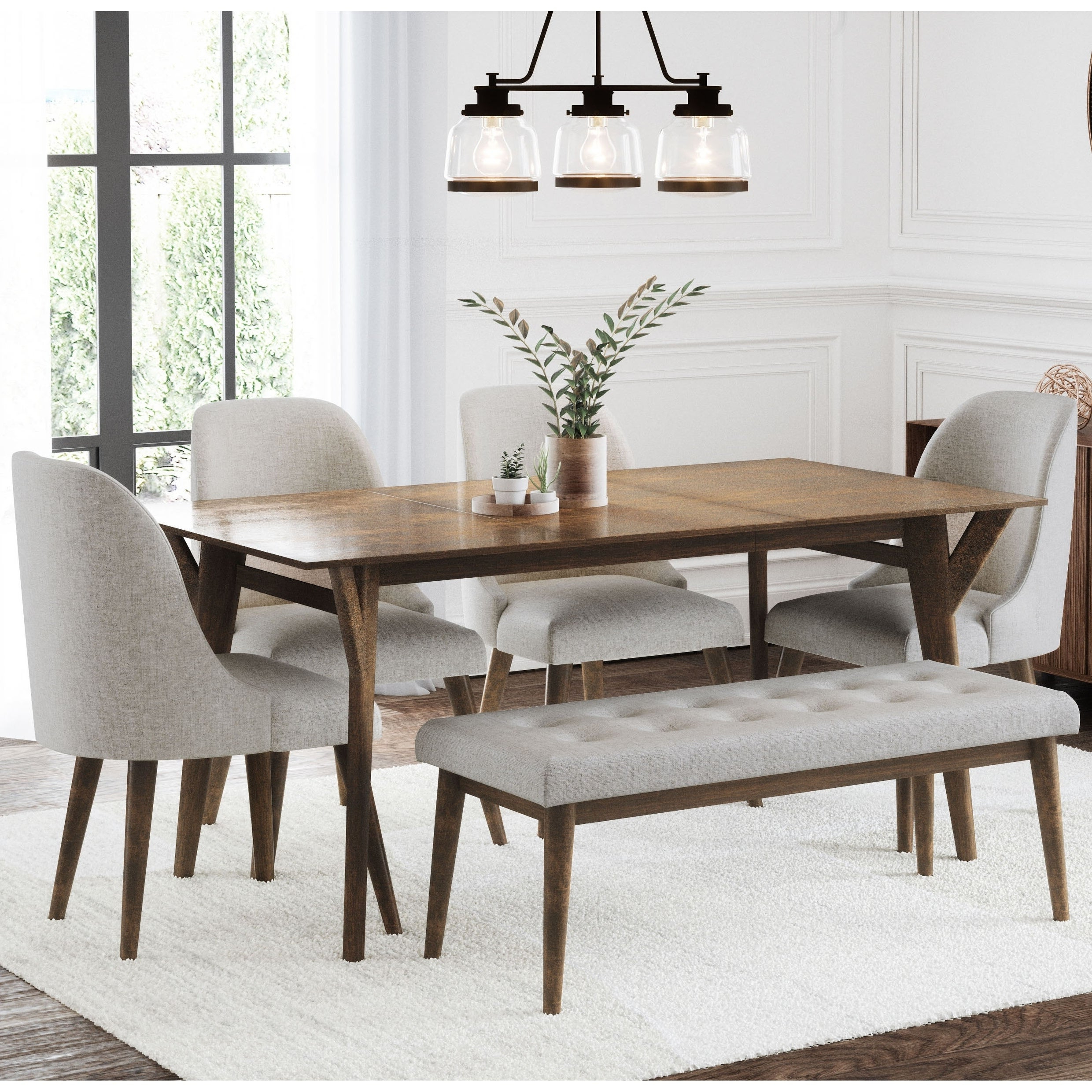 2018 Osterman 6 Piece Extendable Dining Sets (Set Of 6) Intended For Buy 6 Piece Sets Kitchen & Dining Room Sets Online At Overstock (View 1 of 20)