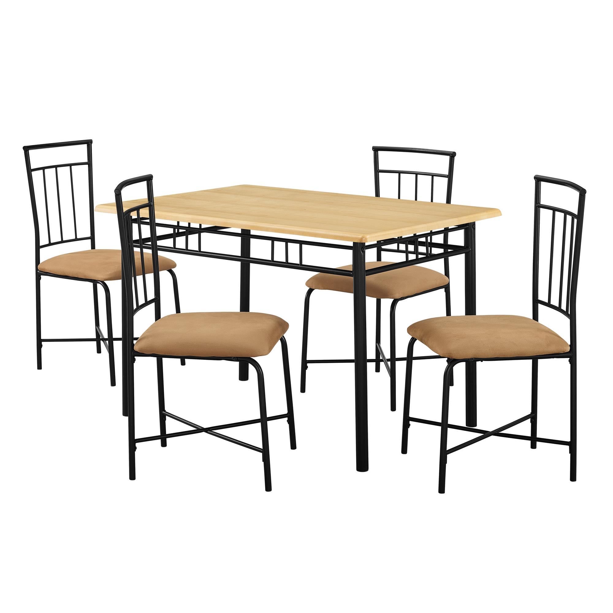 2018 West Hill Family Table 3 Piece Dining Sets Inside Mainstays 5 Piece Dining Set, Multiple Colors (Gallery 11 of 20)