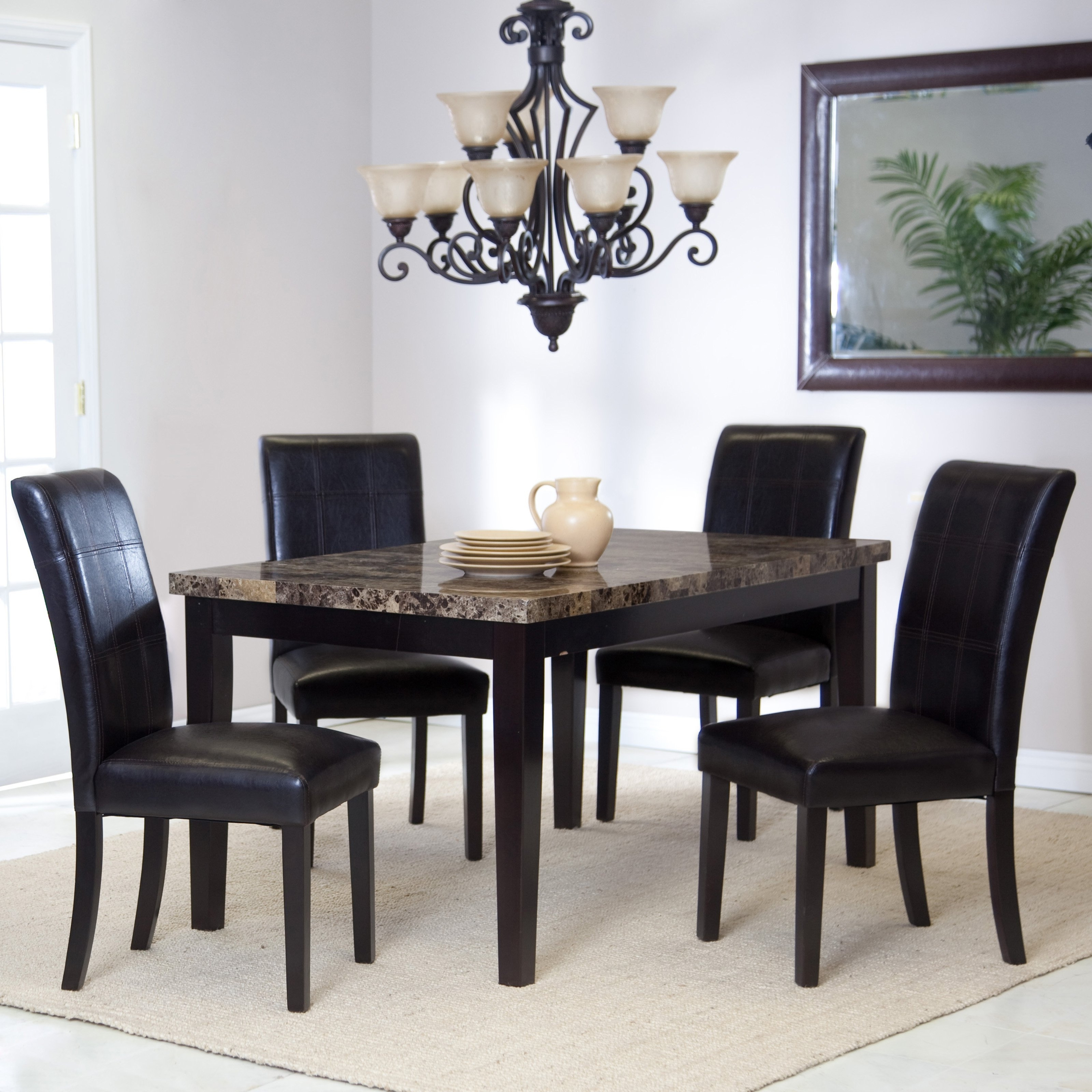 25 Ideas Of Palazzo 3 Piece Dining Table Sets Throughout Newest Pratiksha Sonoma 5 Piece Dining Sets (View 3 of 20)