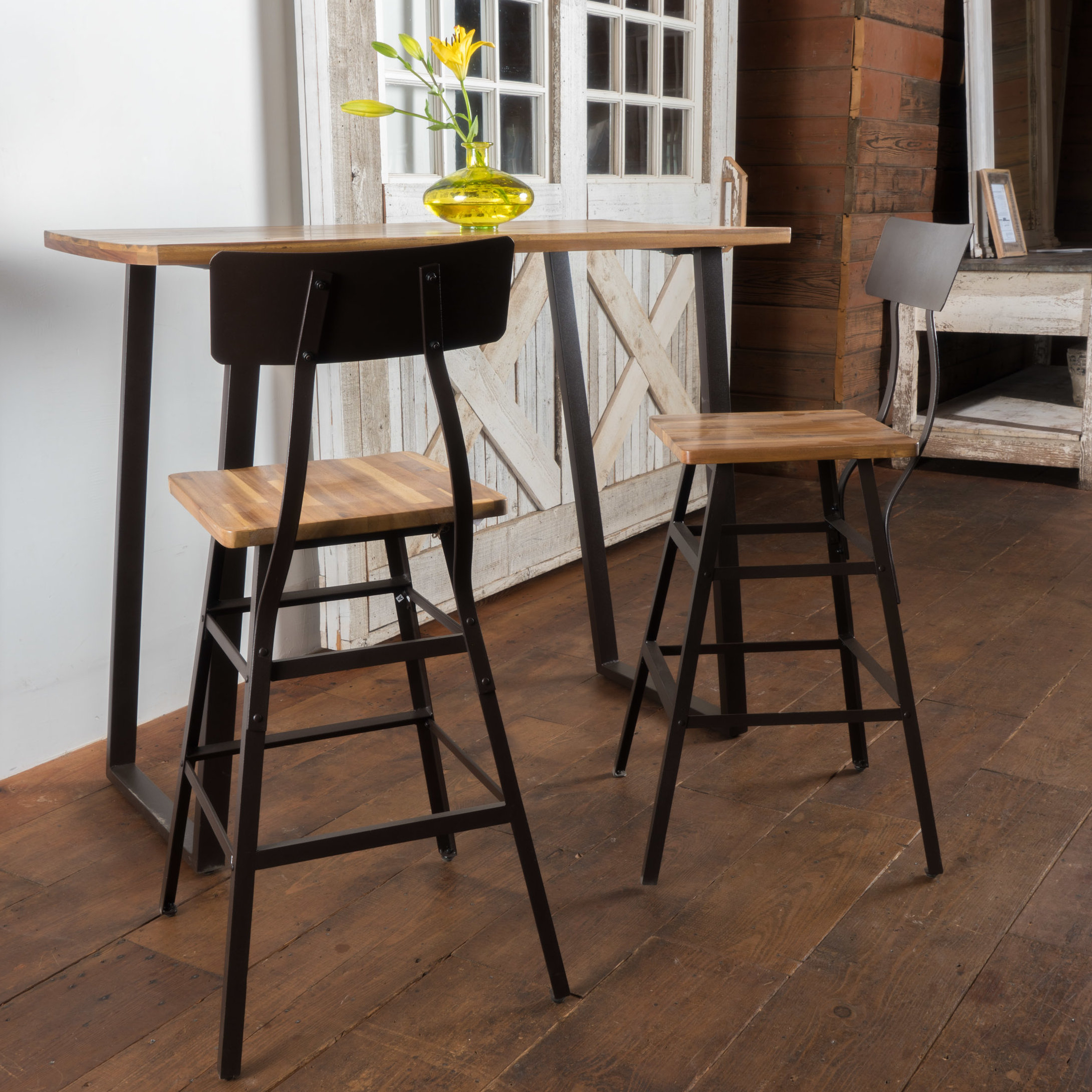 3 Piece Bar Table Set – Frasesdeconquista – Intended For Trendy Crownover 3 Piece Bar Table Sets (View 2 of 20)