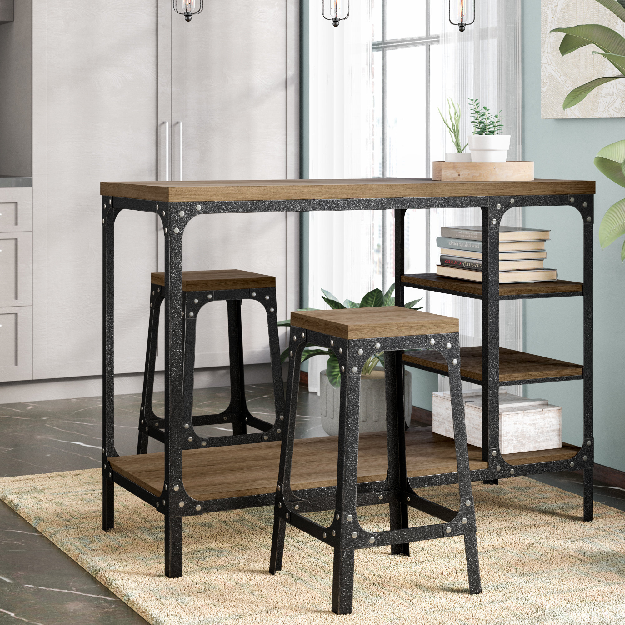 3 Piece Breakfast Dining Sets Inside Most Popular Terence 3 Piece Breakfast Nook Dining Set (Gallery 9 of 20)