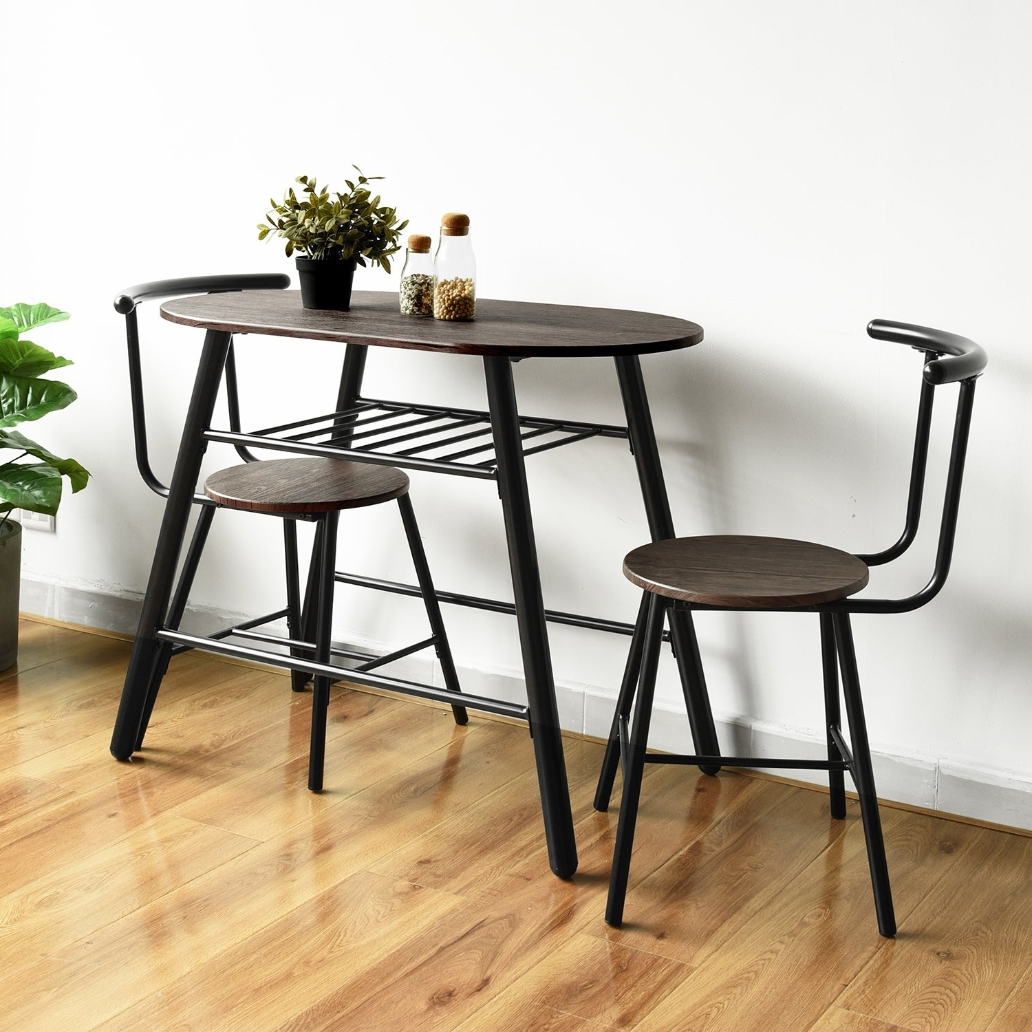 3 Piece Dining Sets For Widely Used Carbon Loft Searz 3 Piece Dining Set Table And Chairs (View 3 of 20)