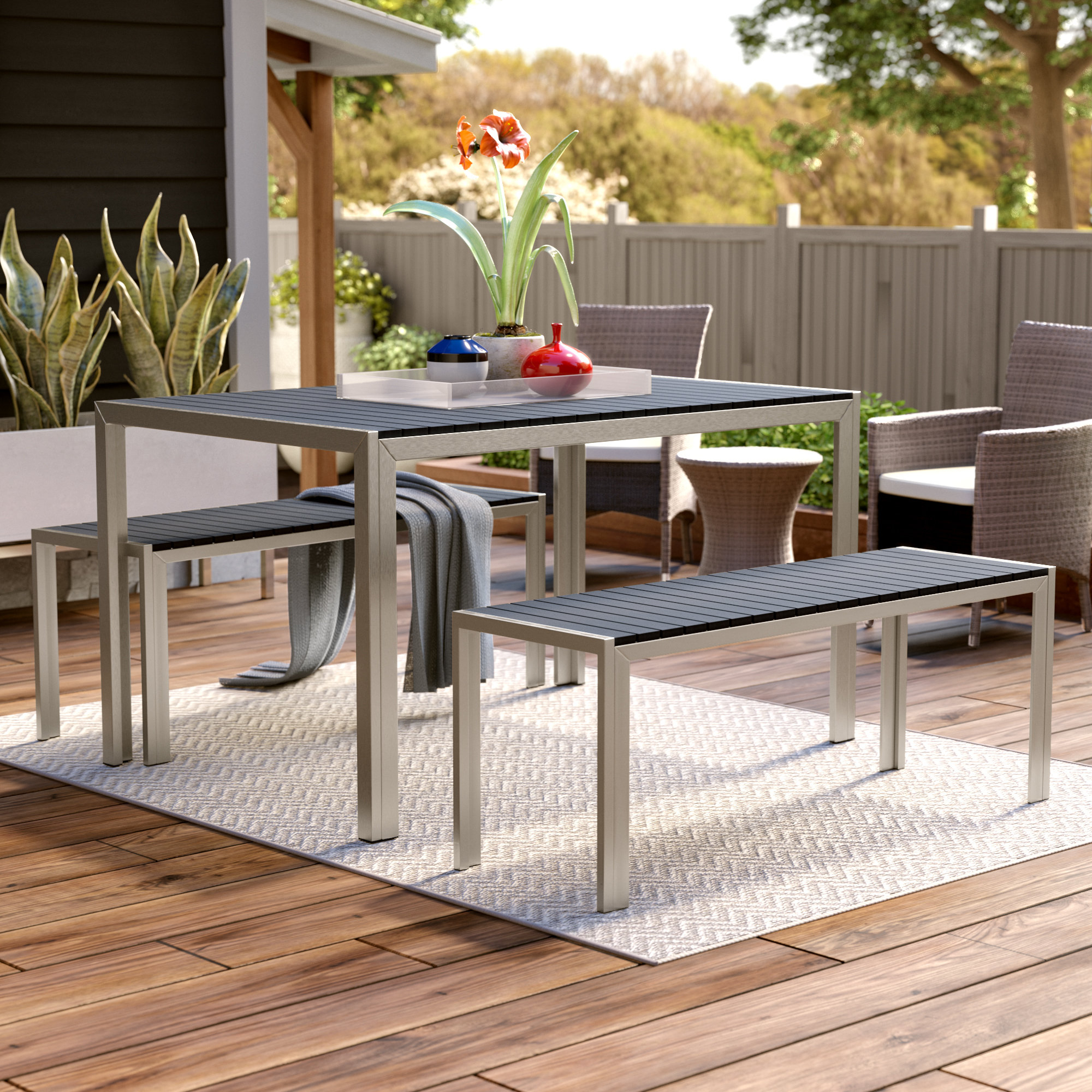 3 Piece Dining Sets Inside 2018 Serpa 3 Piece Dining Set (View 2 of 20)