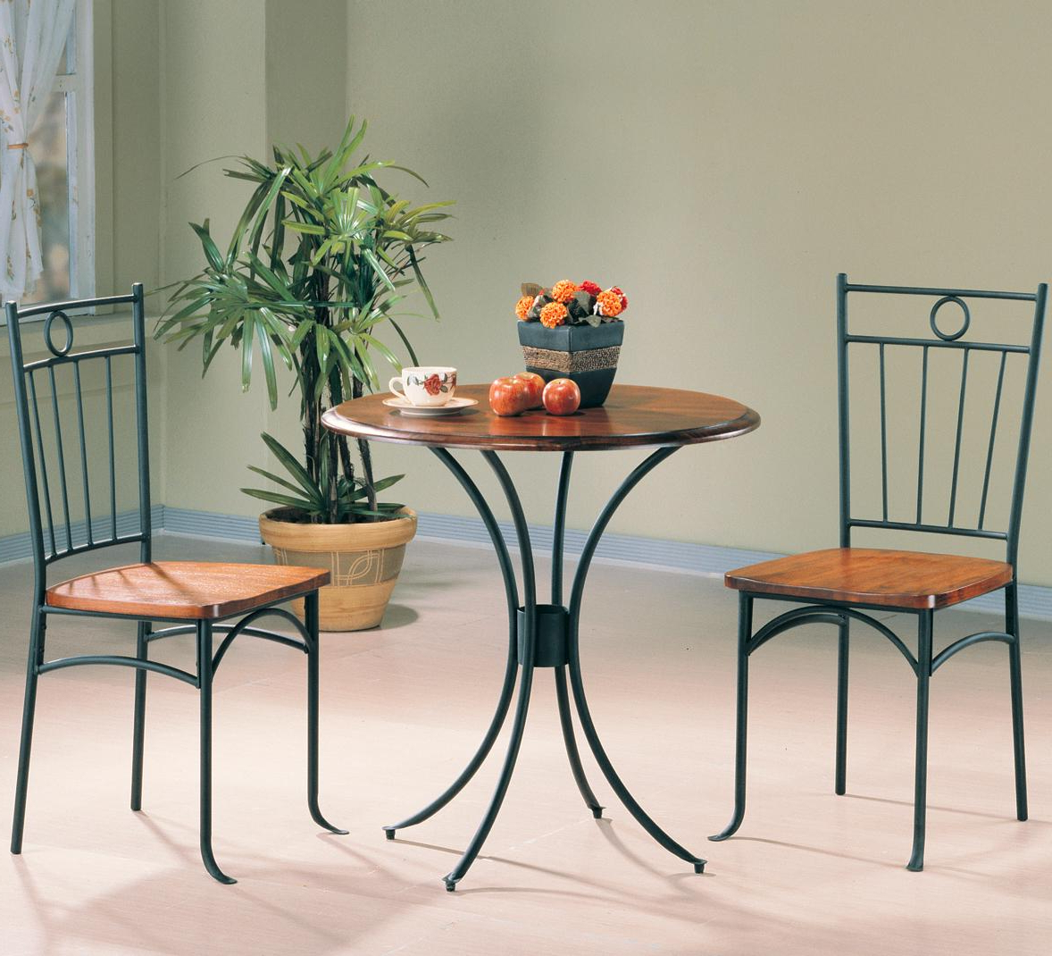 3 Piece Dining Sets Inside Newest Tamiami 3 Piece Bistro Dining Setcoaster At Value City Furniture (View 5 of 20)