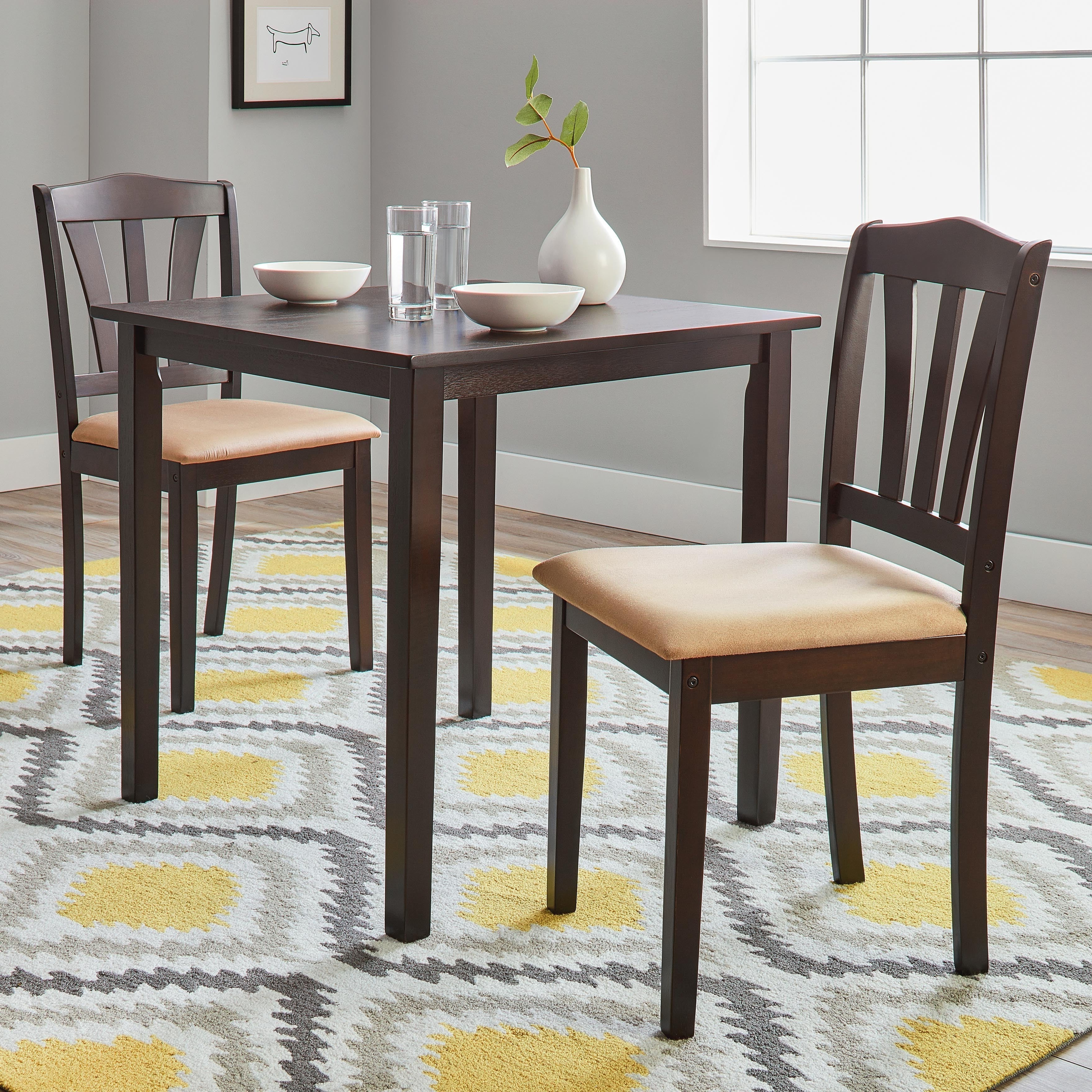 3 Piece Dining Sets Throughout Preferred Porch & Den Michigan 3 Piece Dining Set (View 4 of 20)