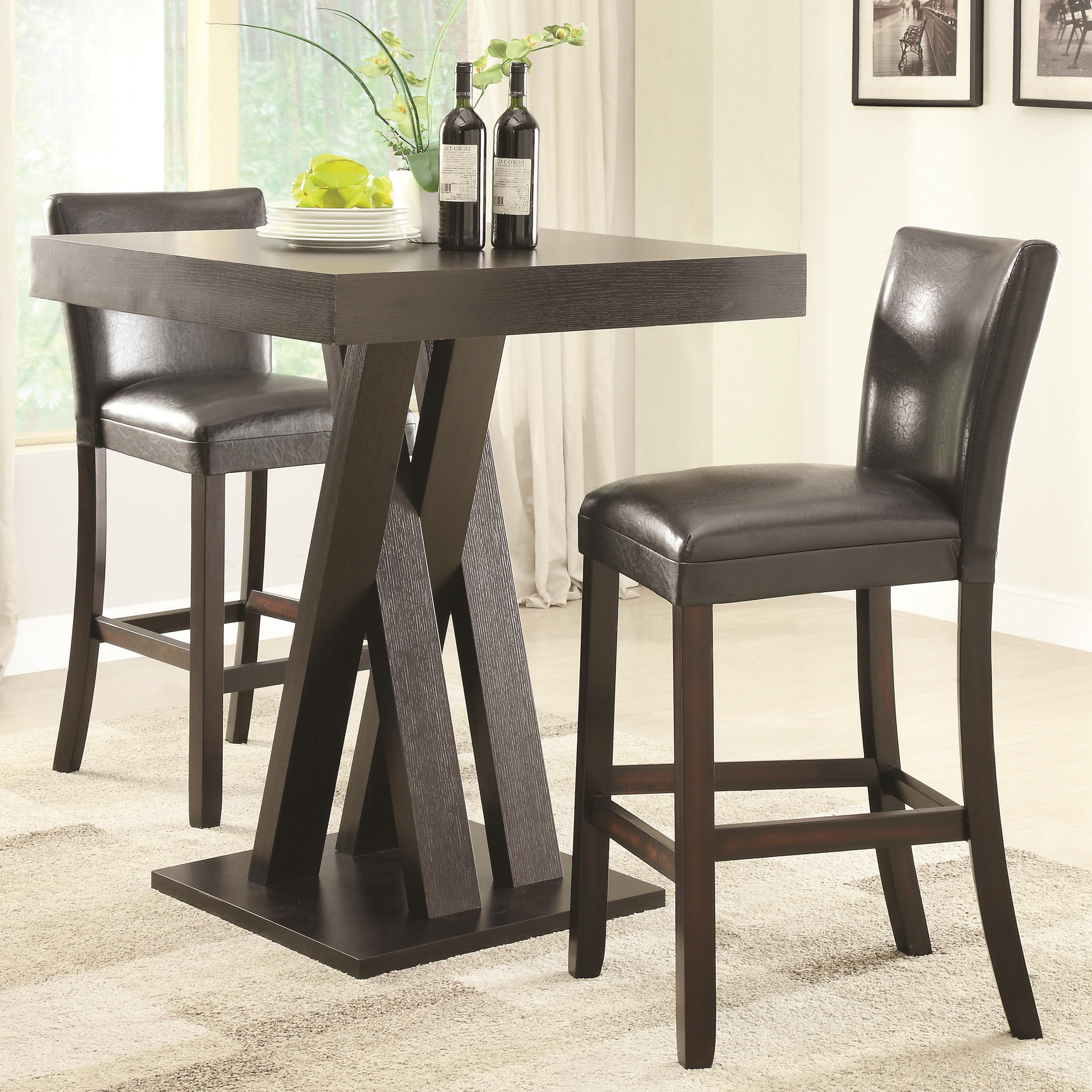 3pc Dining Room Set – Summervilleaugusta Within Well Known Sheetz 3 Piece Counter Height Dining Sets (View 13 of 20)