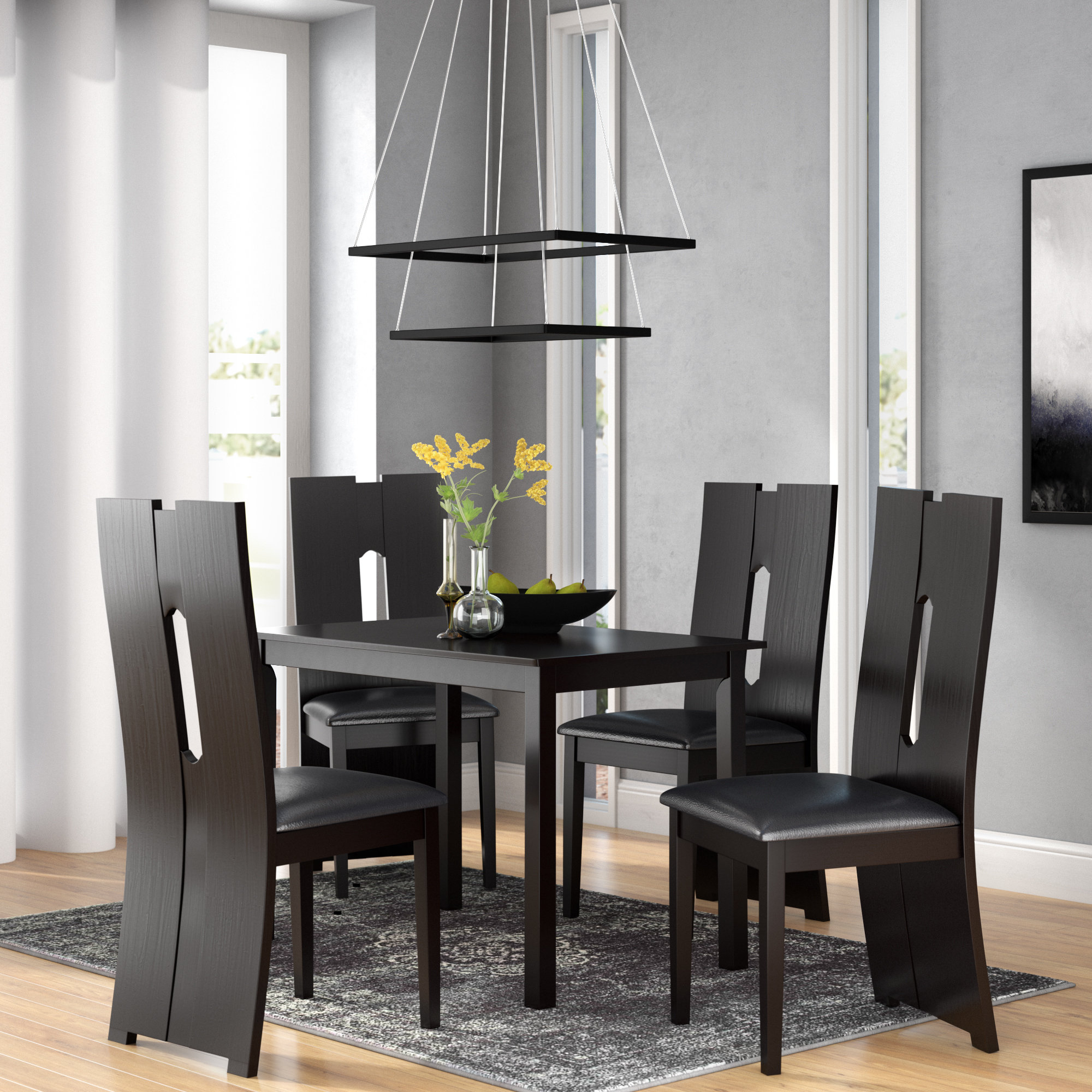 5 Piece Breakfast Nook Dining Sets Pertaining To 2017 Onsted Modern And Contemporary 5 Piece Breakfast Nook Dining Set (Gallery 15 of 20)