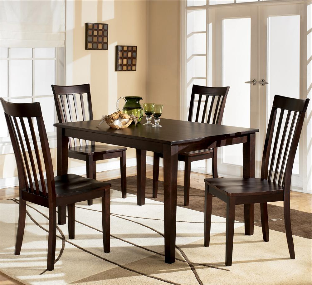 5 Piece Dining Sets With Regard To Most Recently Released Hyland 5 Piece Dining Set With Rectangular Table And 4 Chairsashley Furniture At Furniture And Appliancemart (View 9 of 20)