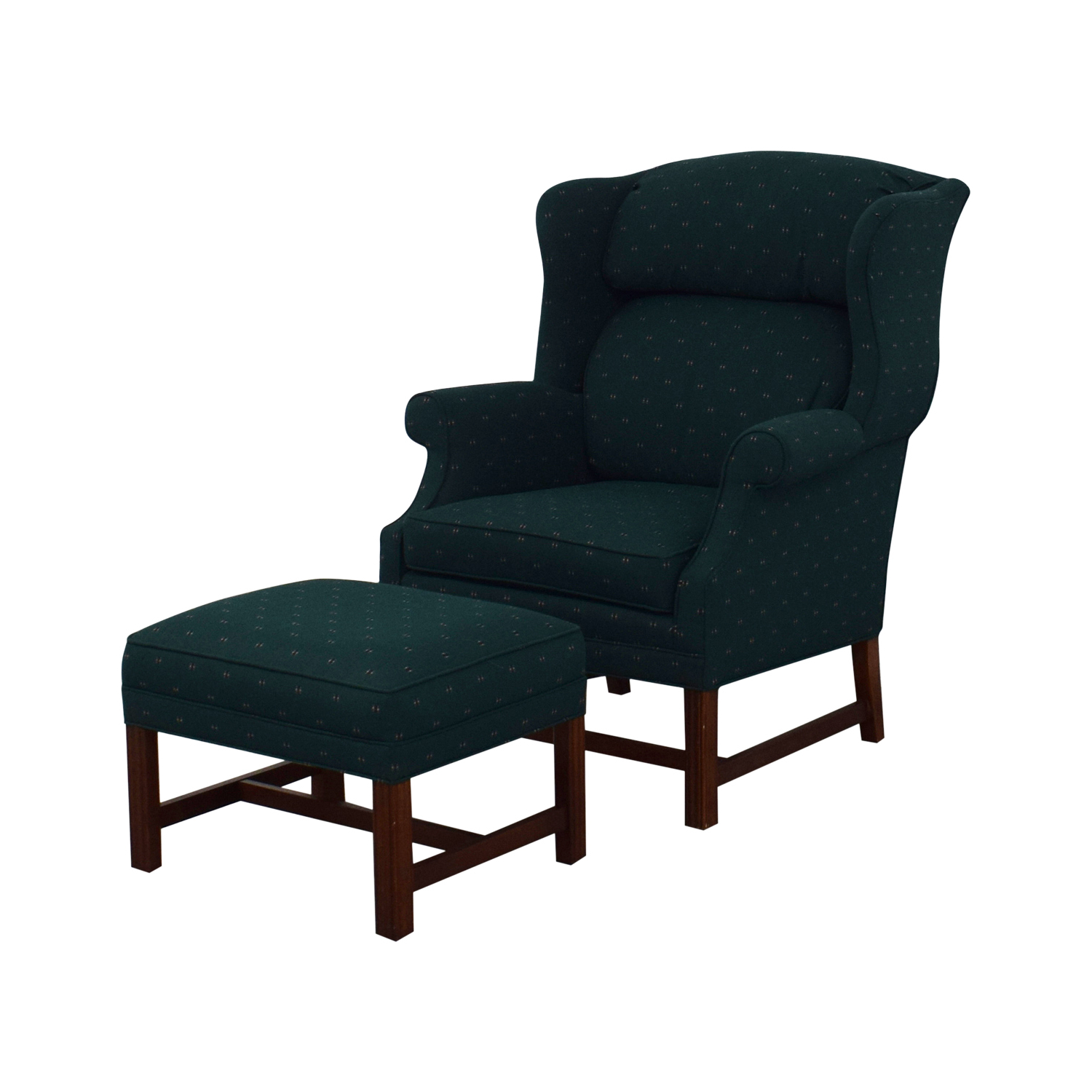 [%84% Off – Conover Chair Company Conover Chair Company Green Wingback Accent  Chair And Ottoman / Chairs Throughout Most Recent Conover 5 Piece Dining Sets|Conover 5 Piece Dining Sets With Regard To Fashionable 84% Off – Conover Chair Company Conover Chair Company Green Wingback Accent  Chair And Ottoman / Chairs|Current Conover 5 Piece Dining Sets Within 84% Off – Conover Chair Company Conover Chair Company Green Wingback Accent  Chair And Ottoman / Chairs|Well Known 84% Off – Conover Chair Company Conover Chair Company Green Wingback Accent  Chair And Ottoman / Chairs Inside Conover 5 Piece Dining Sets%] (View 2 of 20)