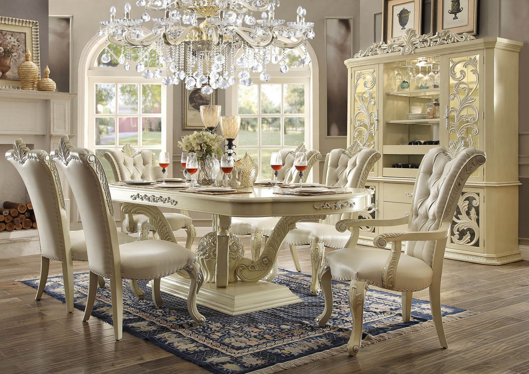 9 Piece Homey Design Marbella Hd 27 Dining Set In 2019 (Gallery 17 of 20)