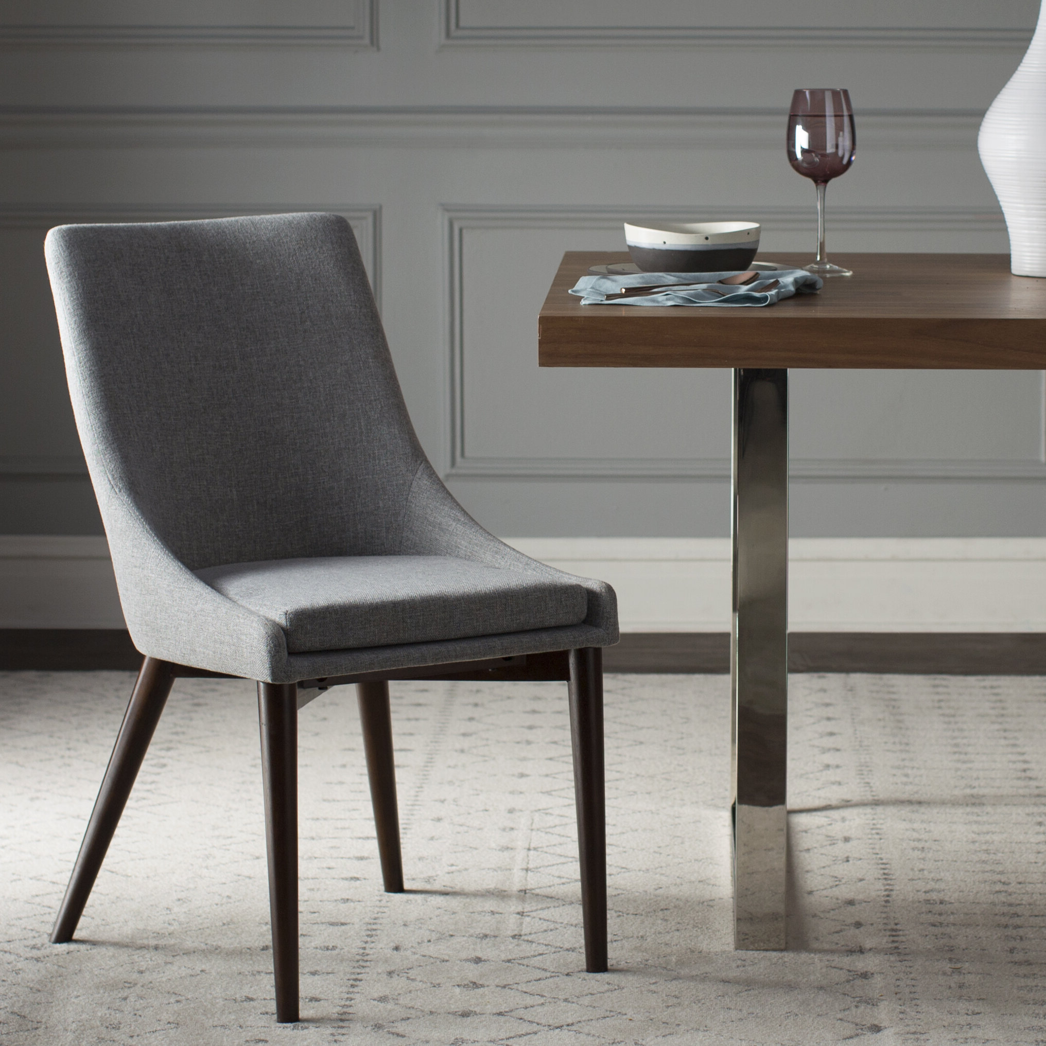 Aaliyah Upholstered Dining Chair Pertaining To Recent Amir 5 Piece Solid Wood Dining Sets (Set Of 5) (Gallery 11 of 20)
