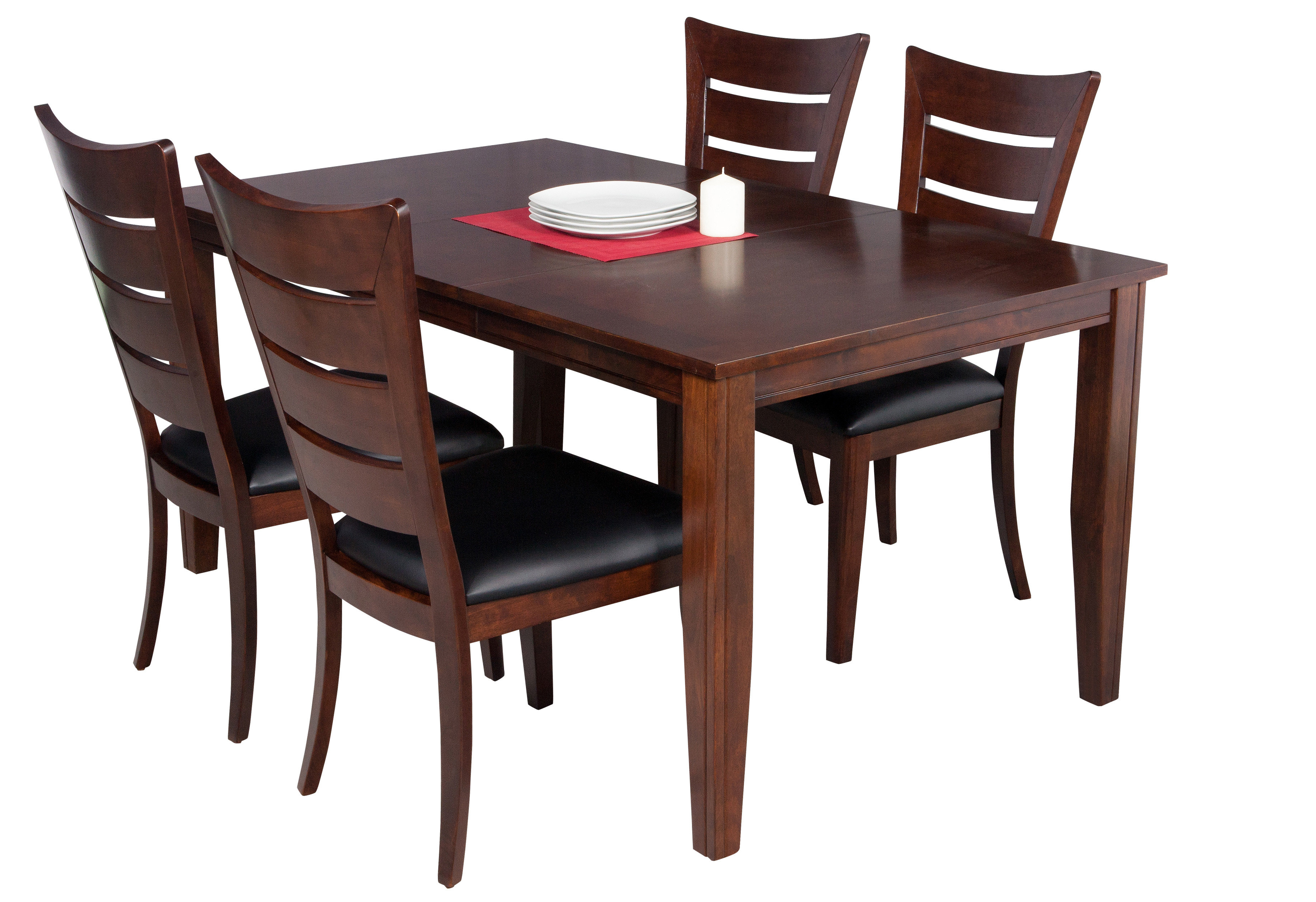 Adan 5 Piece Solid Wood Dining Sets (Set Of 5) Pertaining To Newest Aden 5 Piece Solid Wood Dining Set (View 8 of 20)