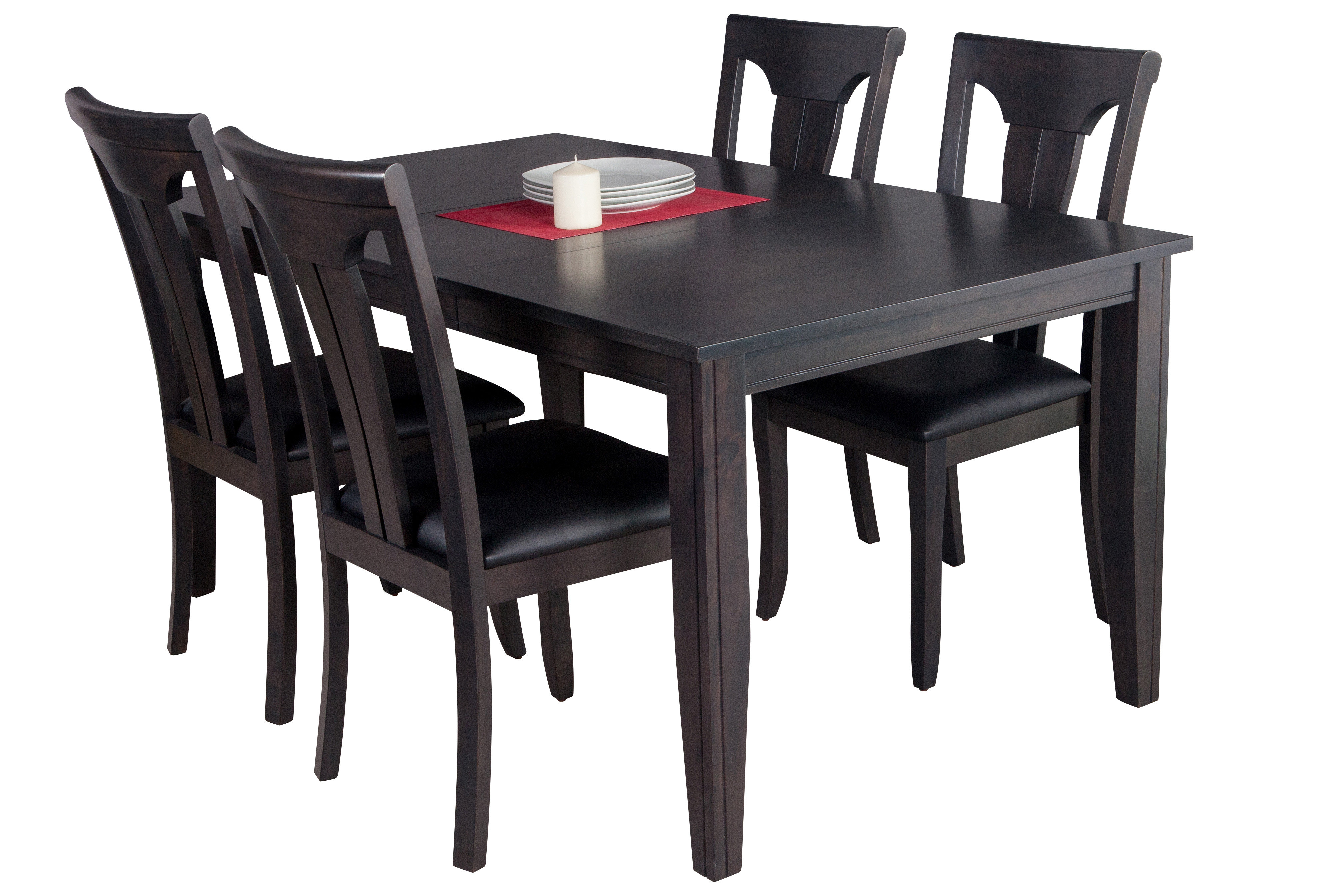 Adan 5 Piece Solid Wood Dining Sets (set Of 5) Regarding Best And Newest Haan Modern 5 Piece Solid Wood Dining Set (Gallery 8 of 20)