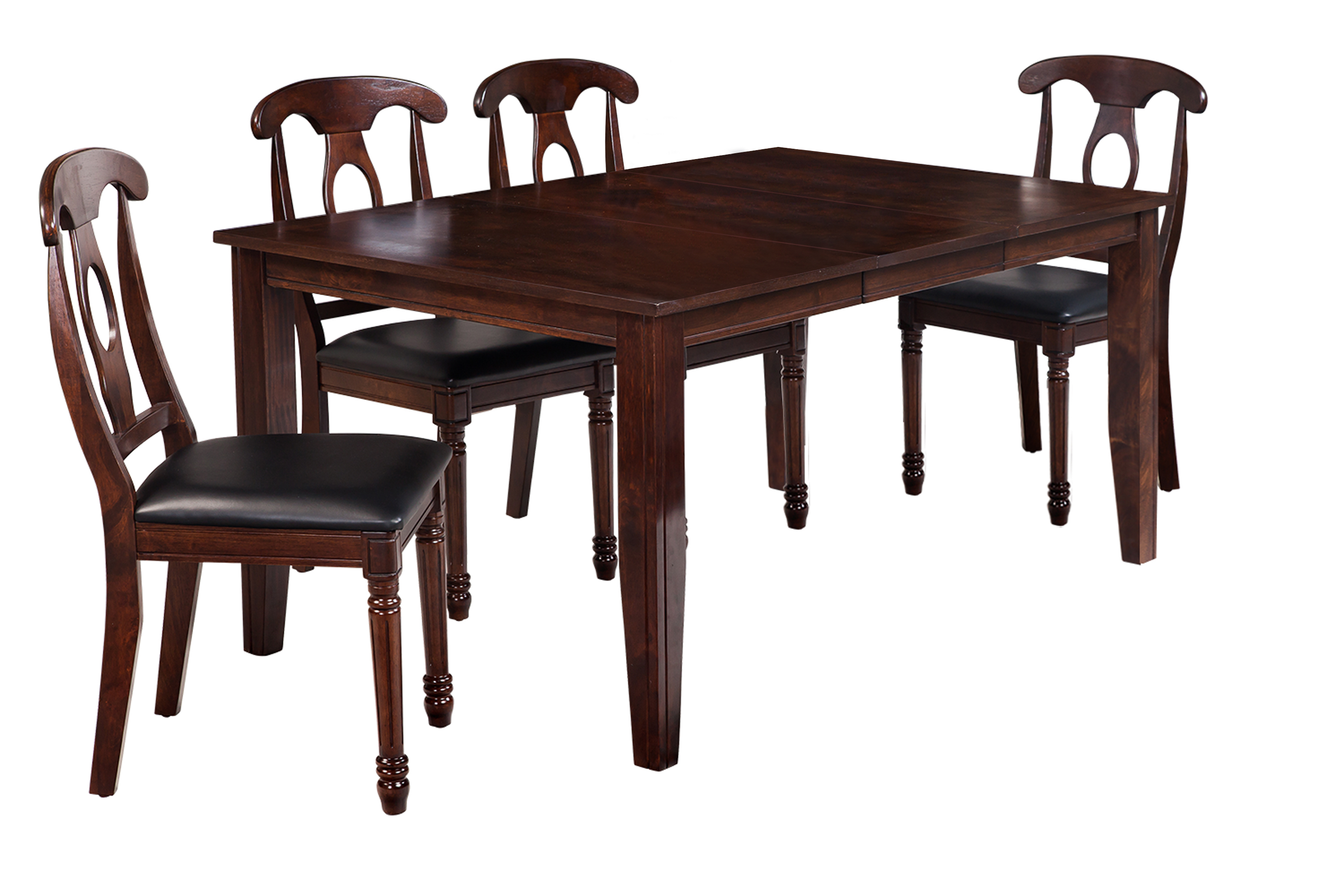 Adan 5 Piece Solid Wood Dining Sets (Set Of 5) With Regard To Current Ttp Furnish (View 10 of 20)