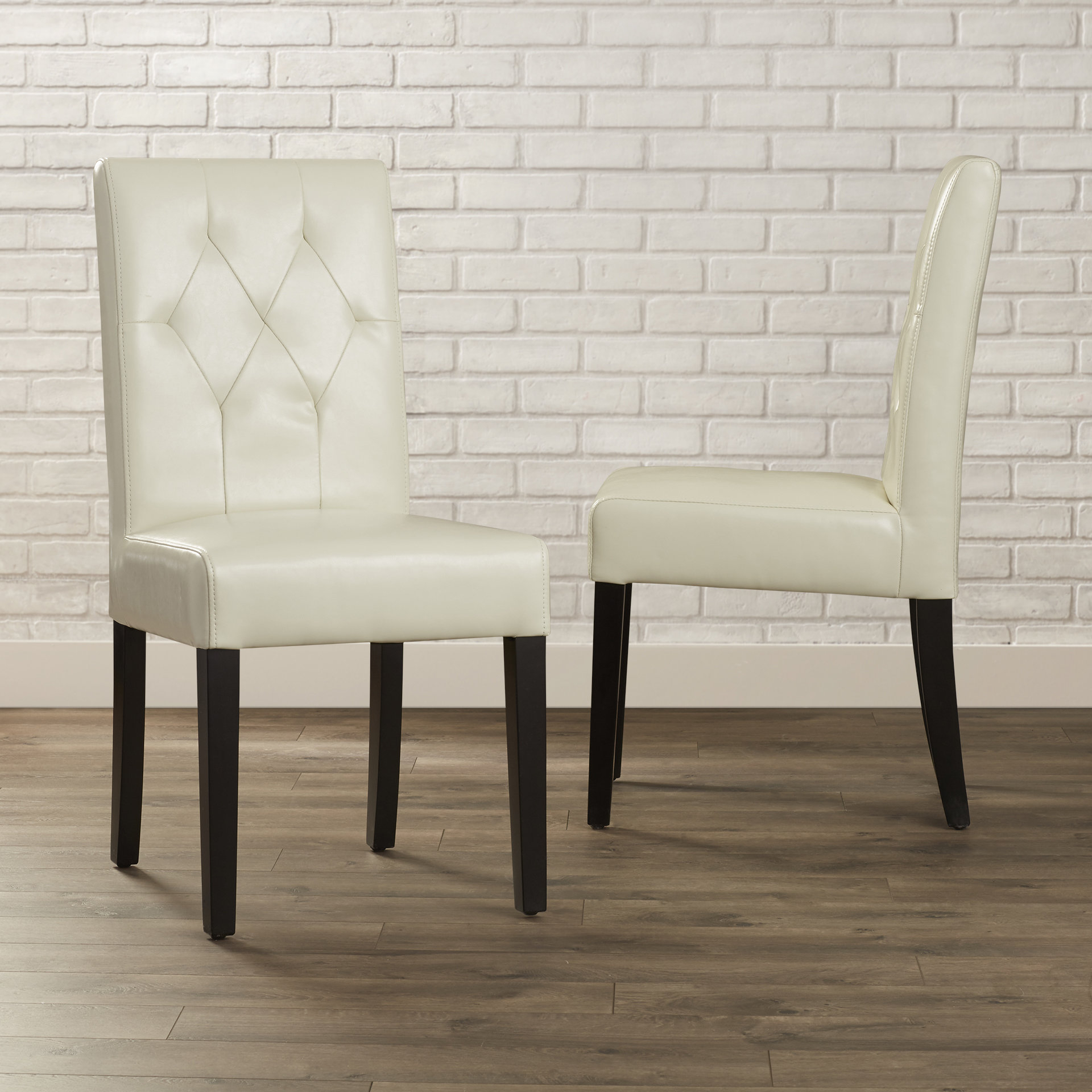 Allegany Bonded Leather Upholstered Dining Chair Throughout 2017 Reinert 5 Piece Dining Sets (View 11 of 20)