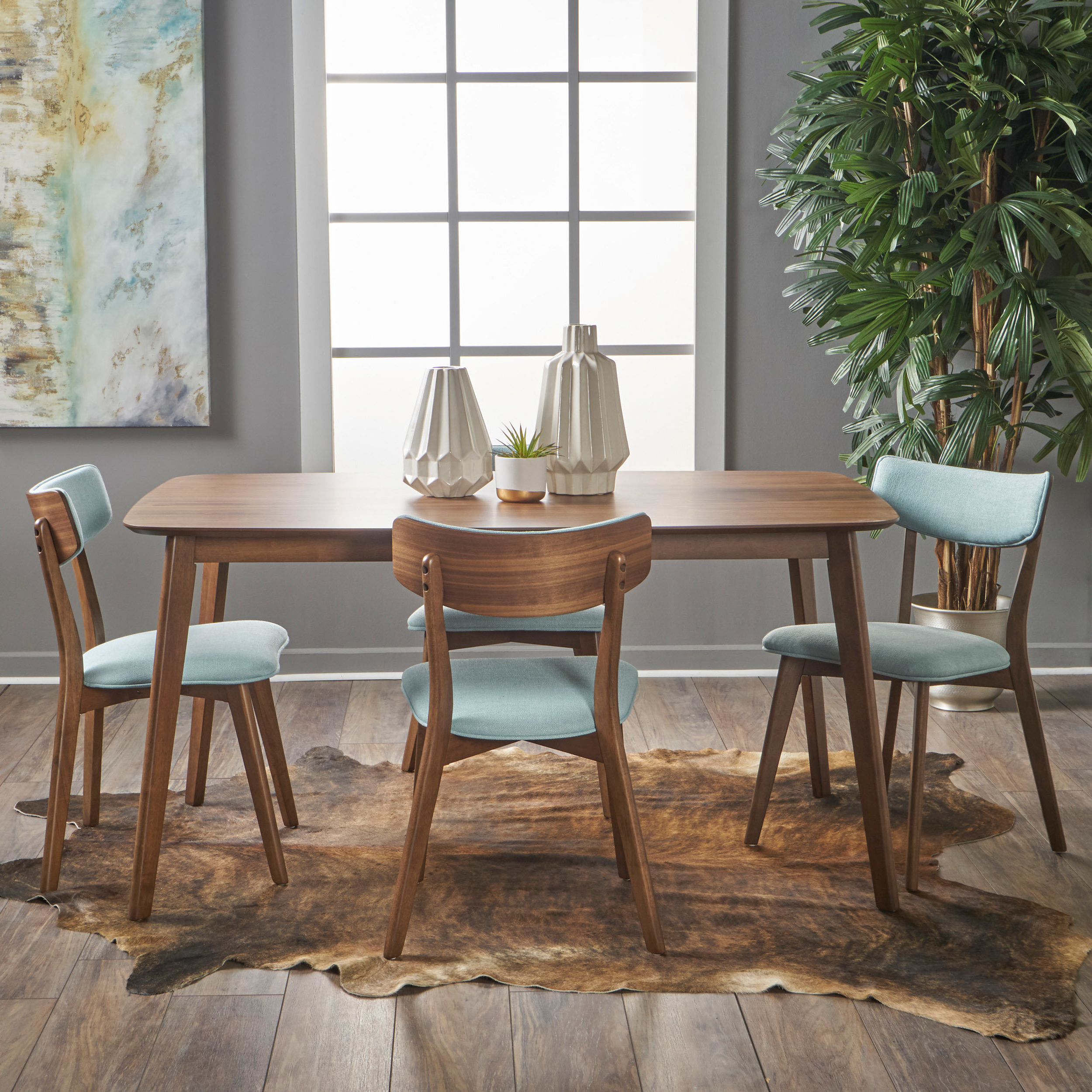 Allmodern Throughout Most Popular Liles 5 Piece Breakfast Nook Dining Sets (View 9 of 20)