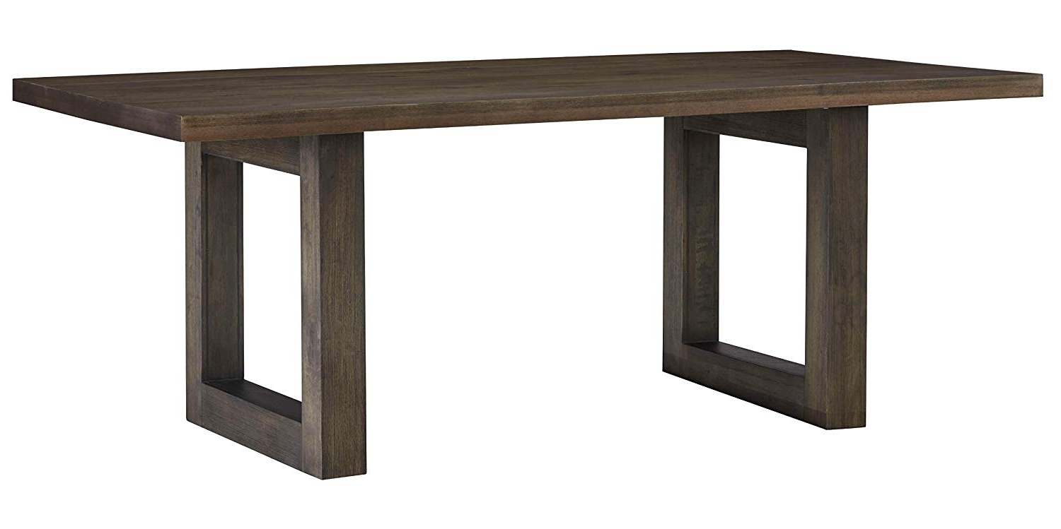 Amazon – Trevon Dusty Brown Oak Finsh Trestle Dining Table – Tables With Recent Travon 5 Piece Dining Sets (View 4 of 20)