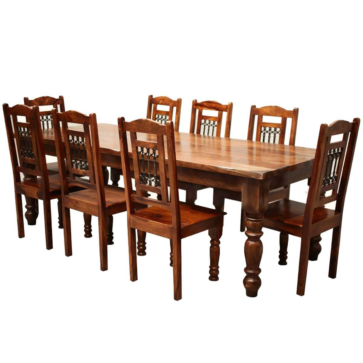 Amir 5 Piece Solid Wood Dining Sets (Set Of 5) Intended For Fashionable Large Kitchen Table Set – Home Decor Photos Gallery (Gallery 19 of 20)