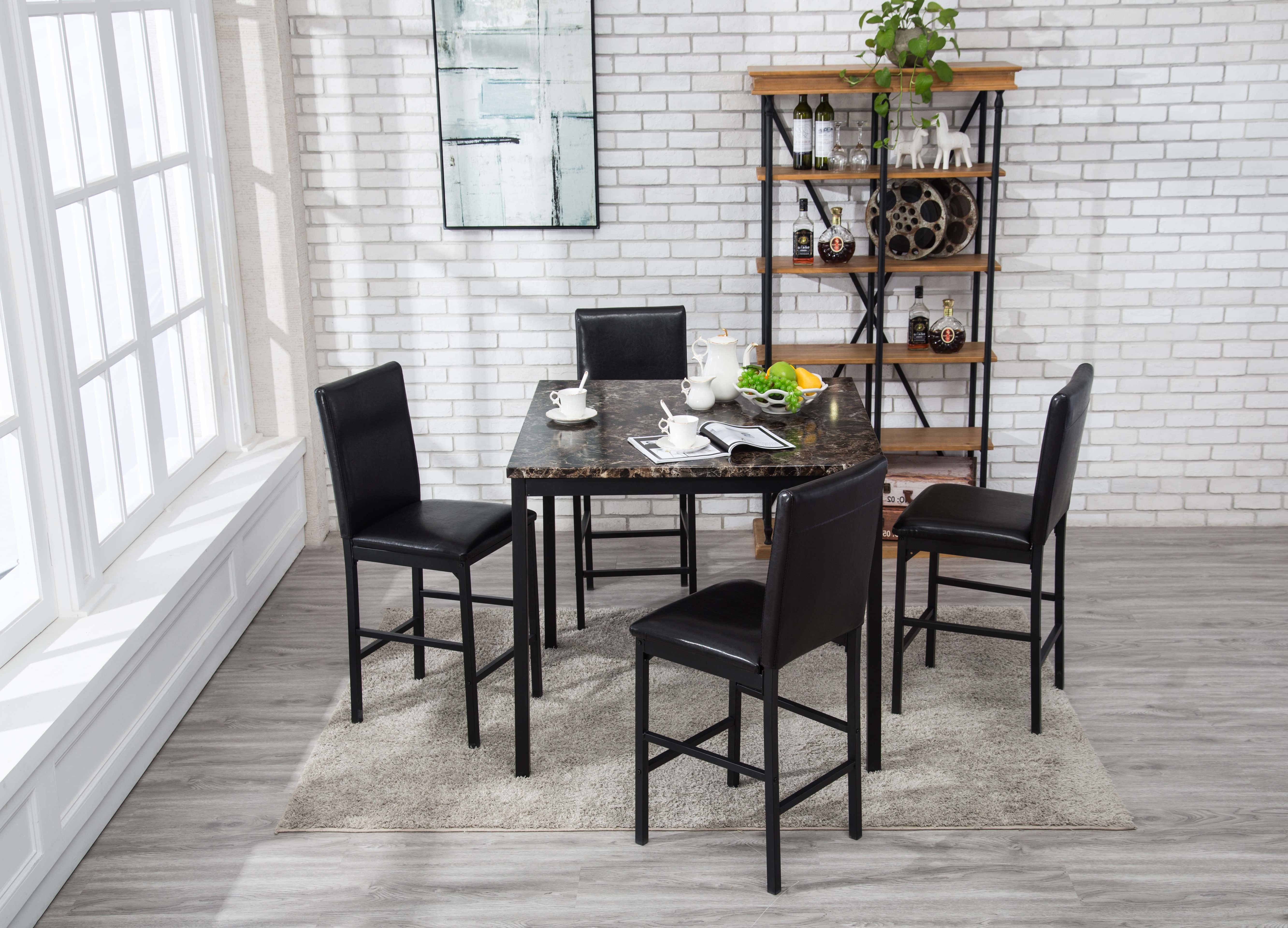 Andreana 5 Piece Dining Set For Current Taulbee 5 Piece Dining Sets (Gallery 8 of 20)