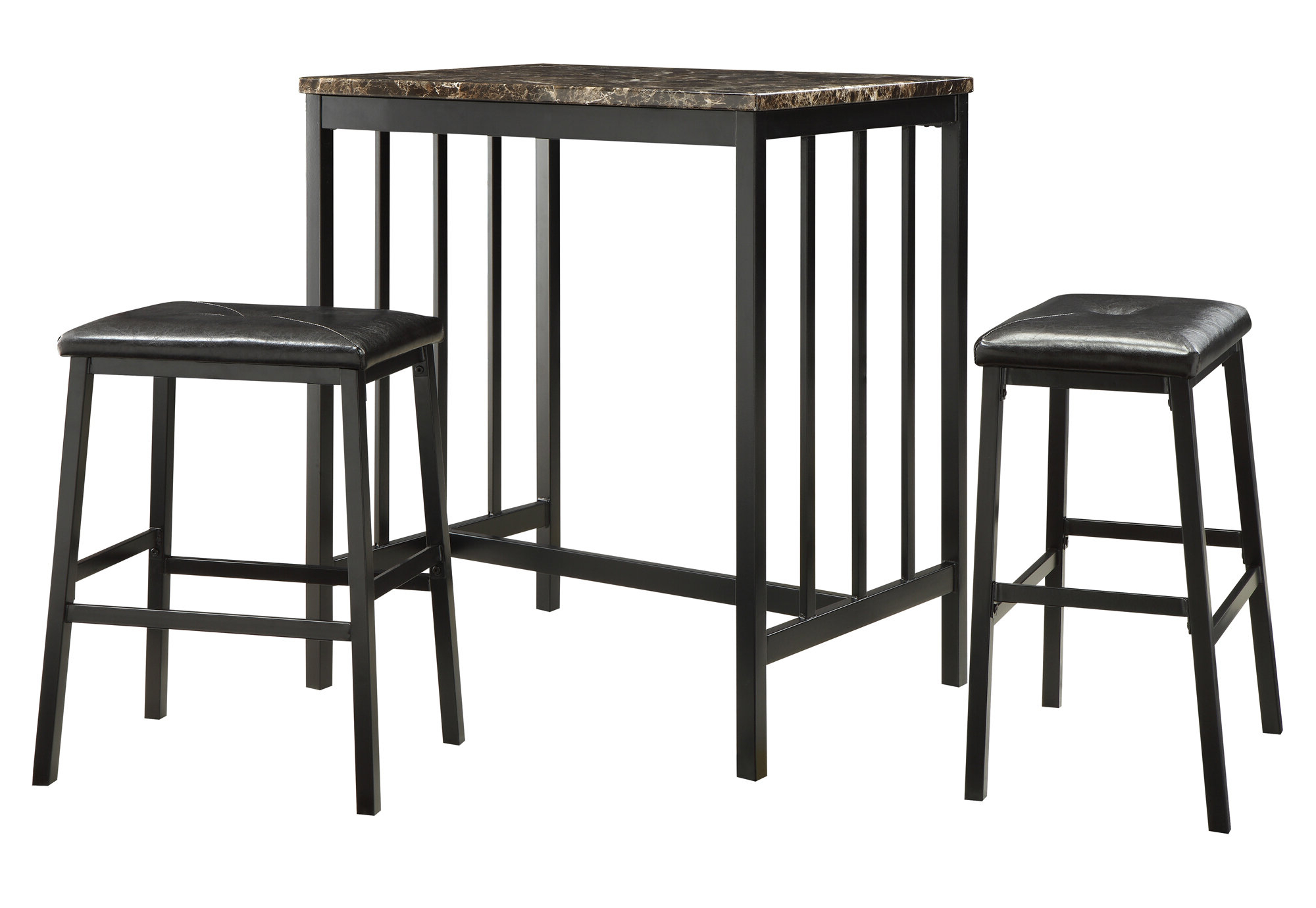 Anette 3 Piece Counter Height Dining Set Pertaining To 2018 Mizpah 3 Piece Counter Height Dining Sets (Gallery 6 of 20)