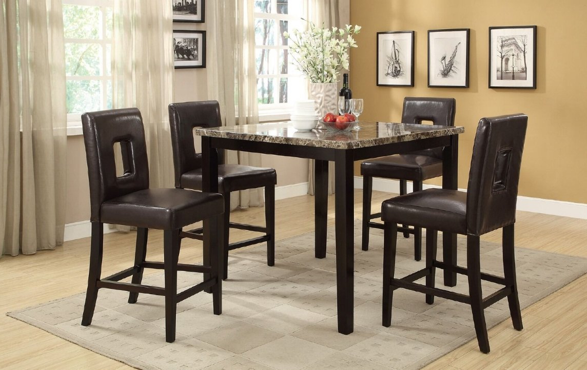 Askern 3 Piece Counter Height Dining Sets (set Of 3) Inside Well Liked Reagan 5 Piece Counter Height Dining Set (Gallery 11 of 20)