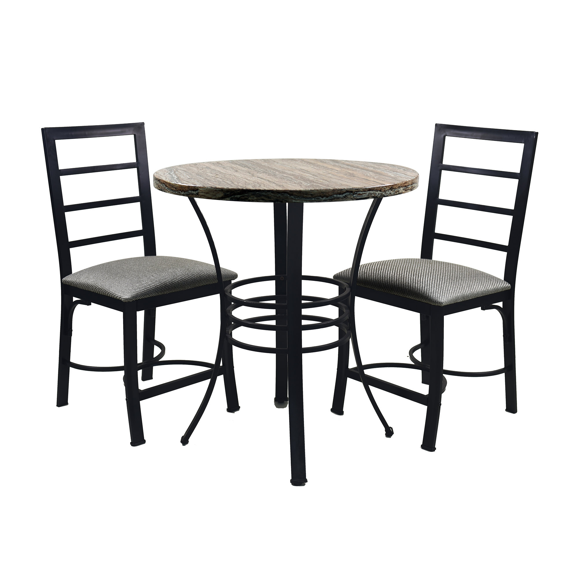 Askern 3 Piece Counter Height Dining Sets (Set Of 3) Regarding Newest Casillas Bistro 3 Piece Dining Set (View 8 of 20)