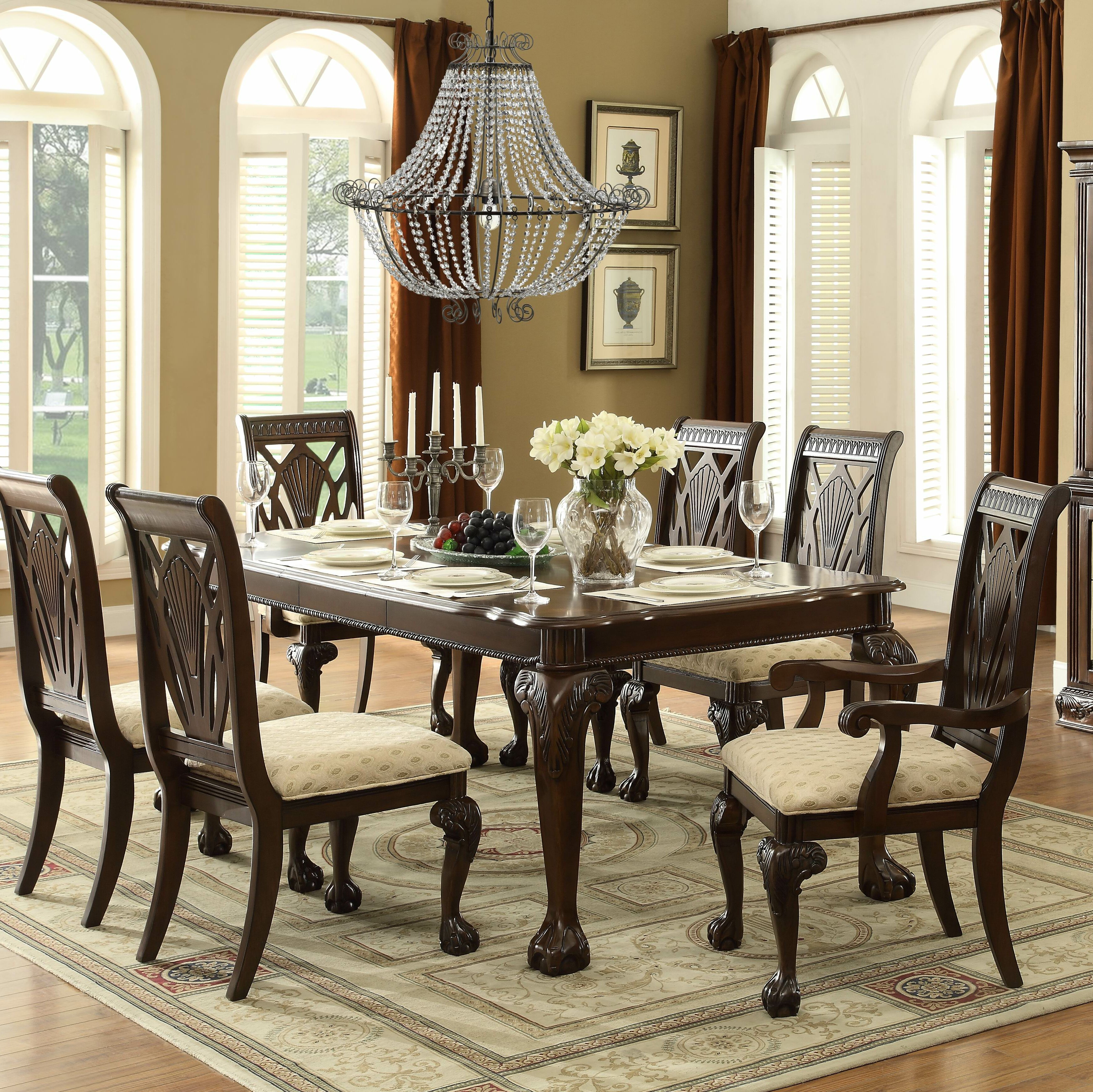 Astoria Grand Christman 7 Piece Extendable Solid Wood Dining Set For Most Popular Laconia 7 Pieces Solid Wood Dining Sets (set Of 7) (View 6 of 20)