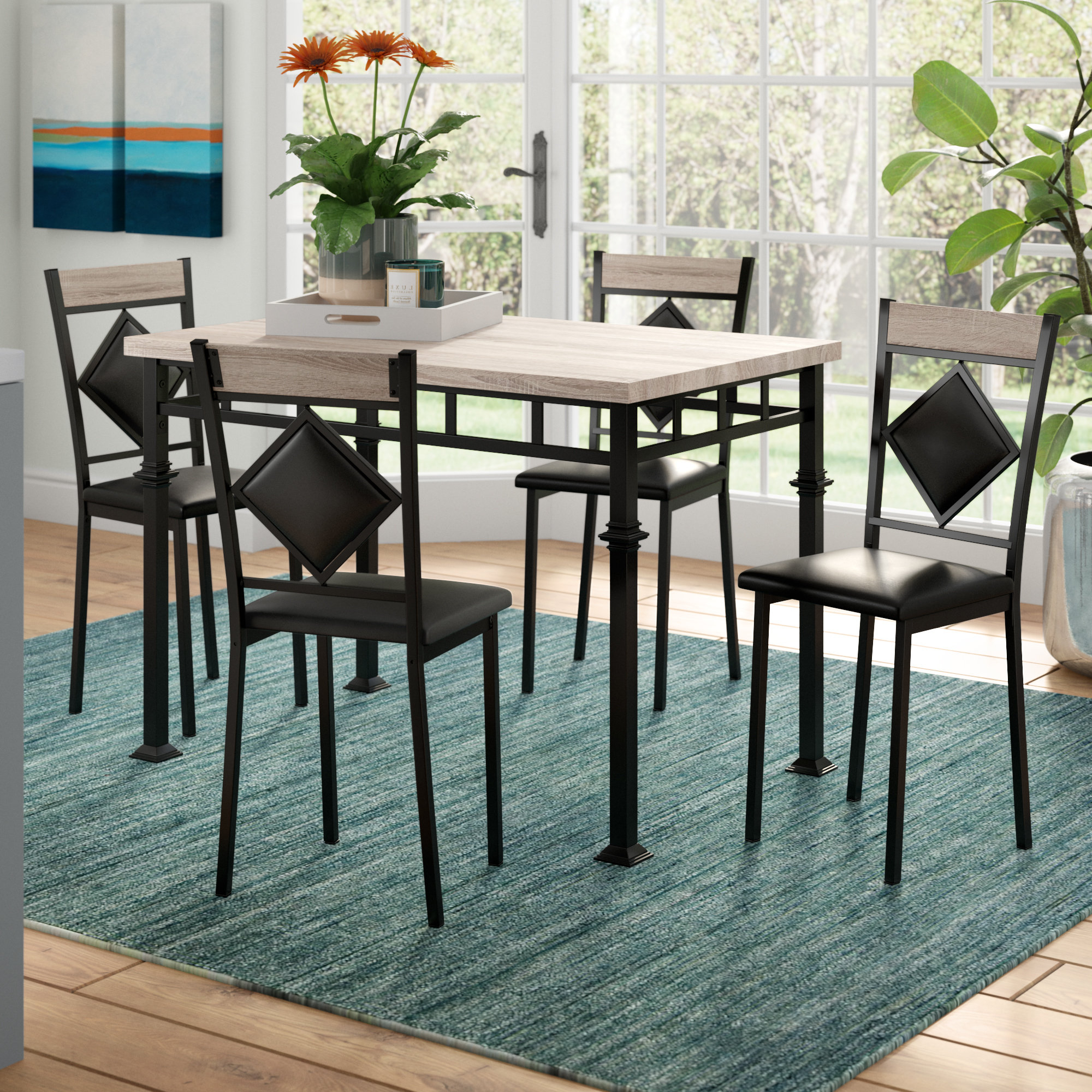 Autberry 5 Piece Dining Sets Pertaining To Trendy Tavarozzi 5 Piece Dining Set (Gallery 4 of 20)