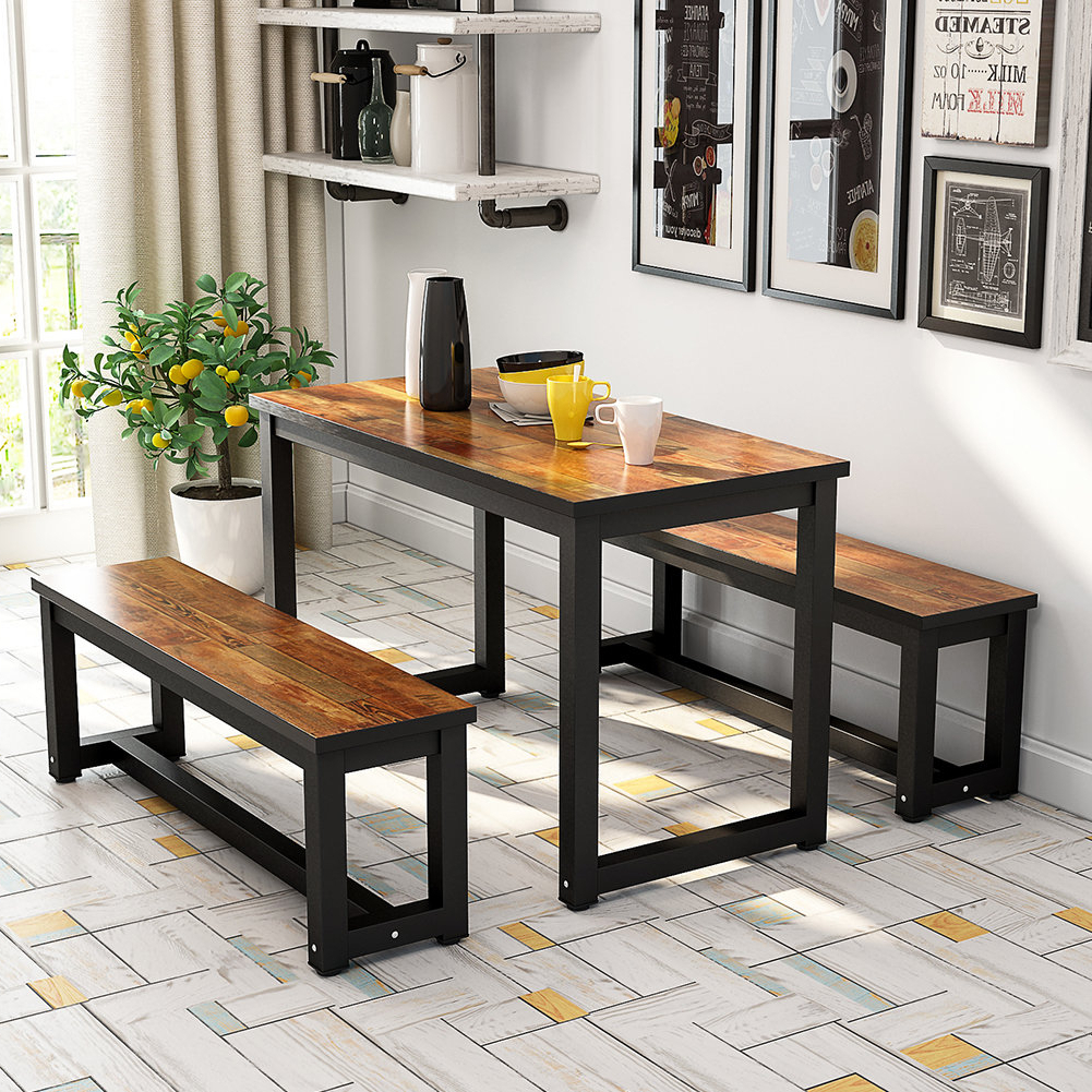 Autberry 5 Piece Dining Sets Within Fashionable Details About Gracie Oaks Parikh 3 Piece Dining Set (View 12 of 20)
