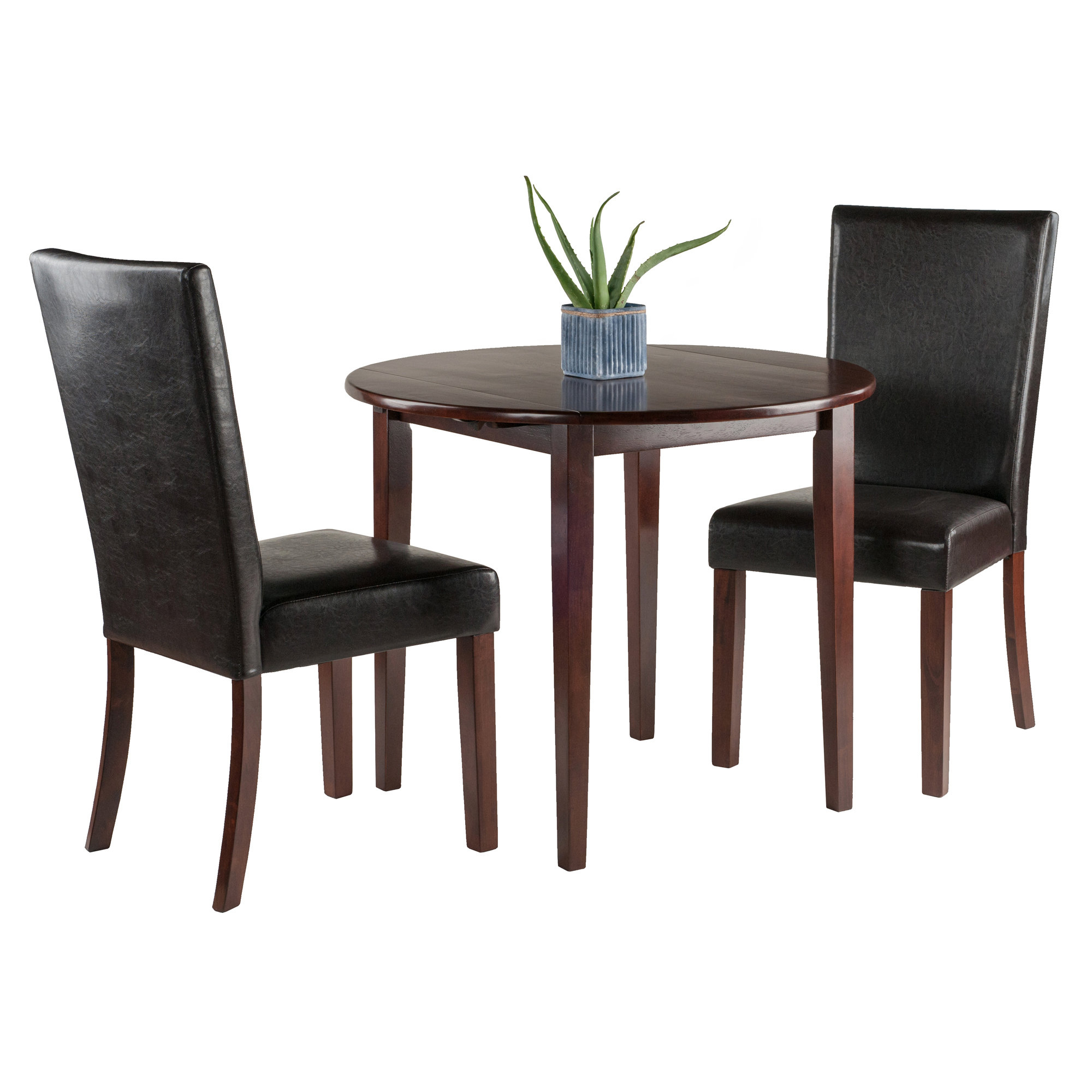Baillie 3 Piece Dining Sets Within Most Current Kendall Traditional 3 Piece Drop Leaf Dining Set (Gallery 18 of 20)