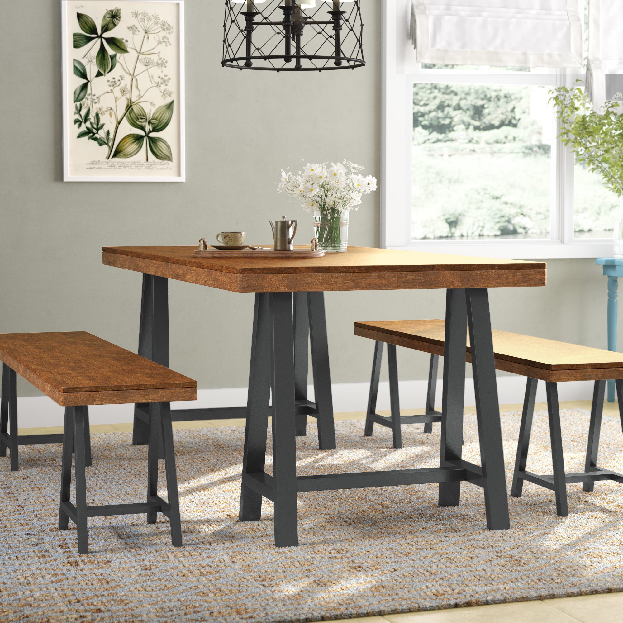 Bearden 3 Piece Dining Sets Within Trendy Mannino Wood Picnic 3 Piece Dining Set (Gallery 17 of 20)