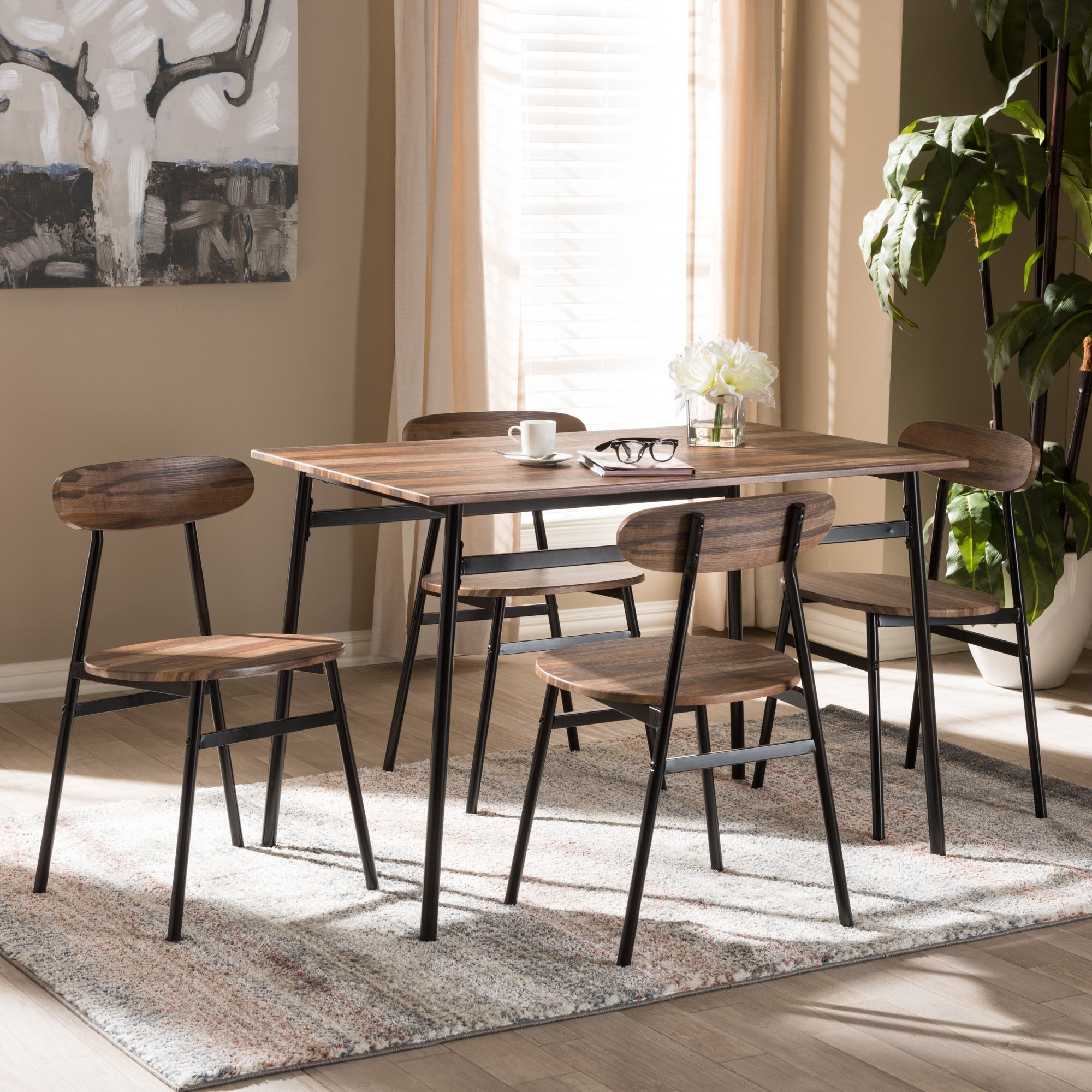 Bedfo 3 Piece Dining Sets Intended For Recent Buy 5 Piece Sets Kitchen & Dining Room Sets Online At Overstock (Gallery 15 of 20)