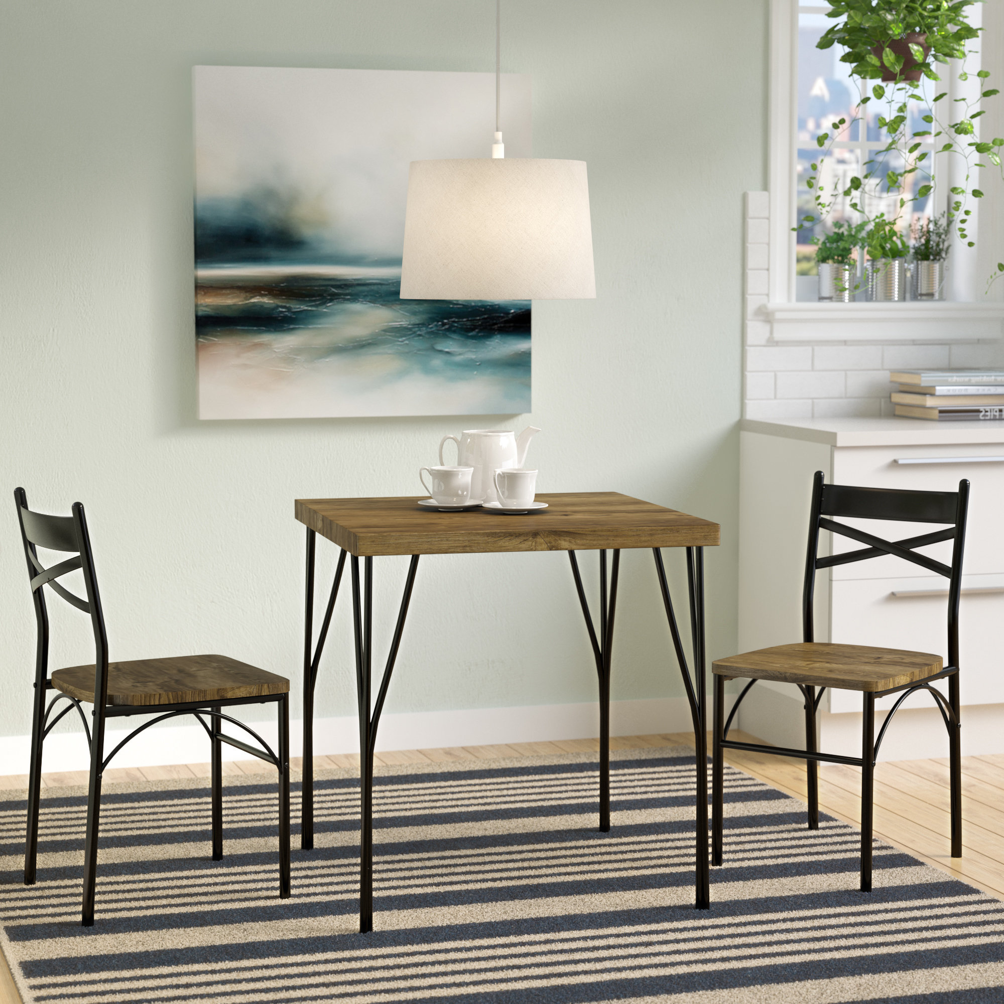 Bedfo 3 Piece Dining Sets Throughout Latest Bedfo 3 Piece Dining Set (Gallery 1 of 20)