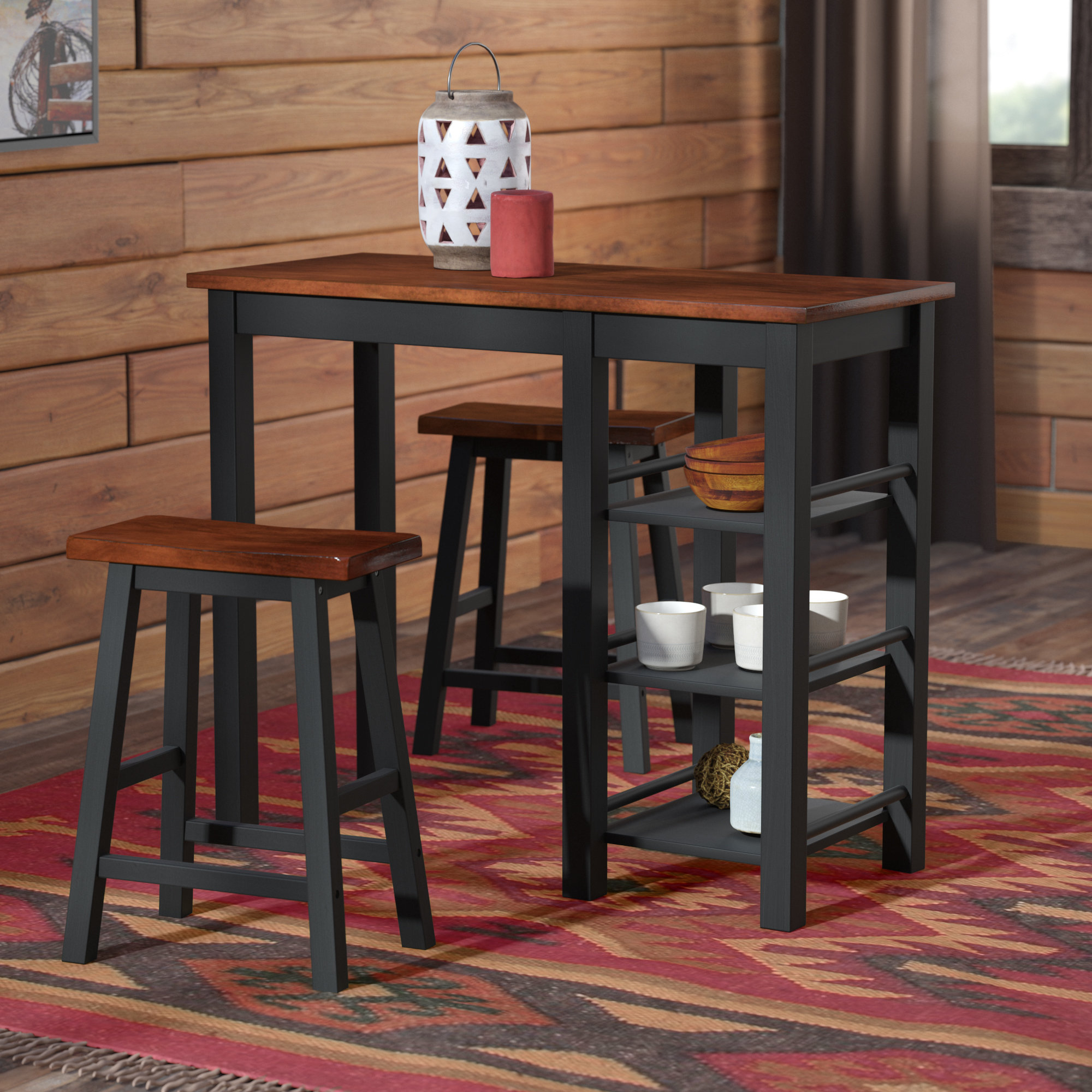 Berrios 3 Piece Counter Height Dining Set Within Recent Sheetz 3 Piece Counter Height Dining Sets (View 7 of 20)
