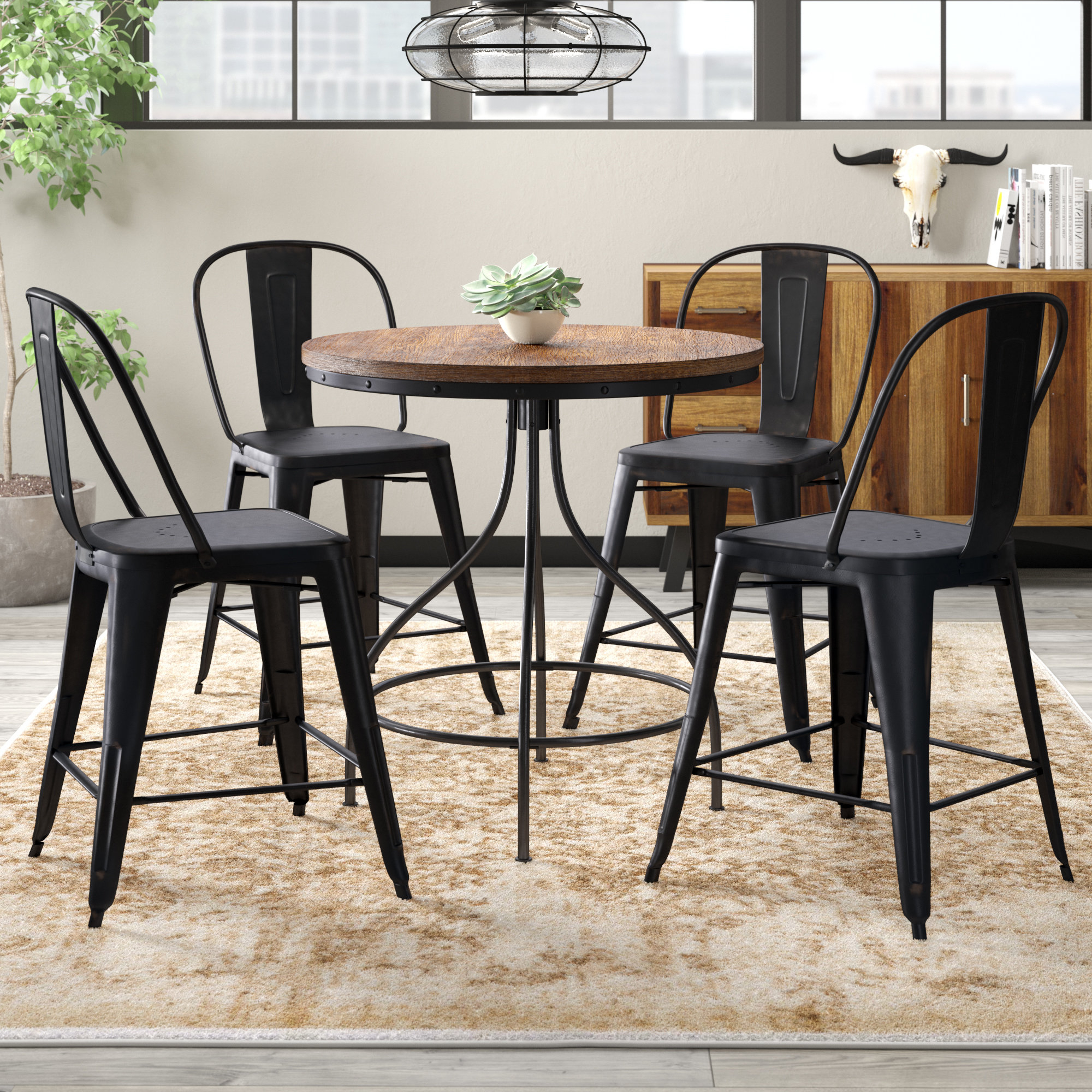 Berrios 3 Piece Counter Height Dining Sets Inside Well Known Trent Austin Design Fauntleroy 5 Piece Pub Table Set (Gallery 16 of 20)