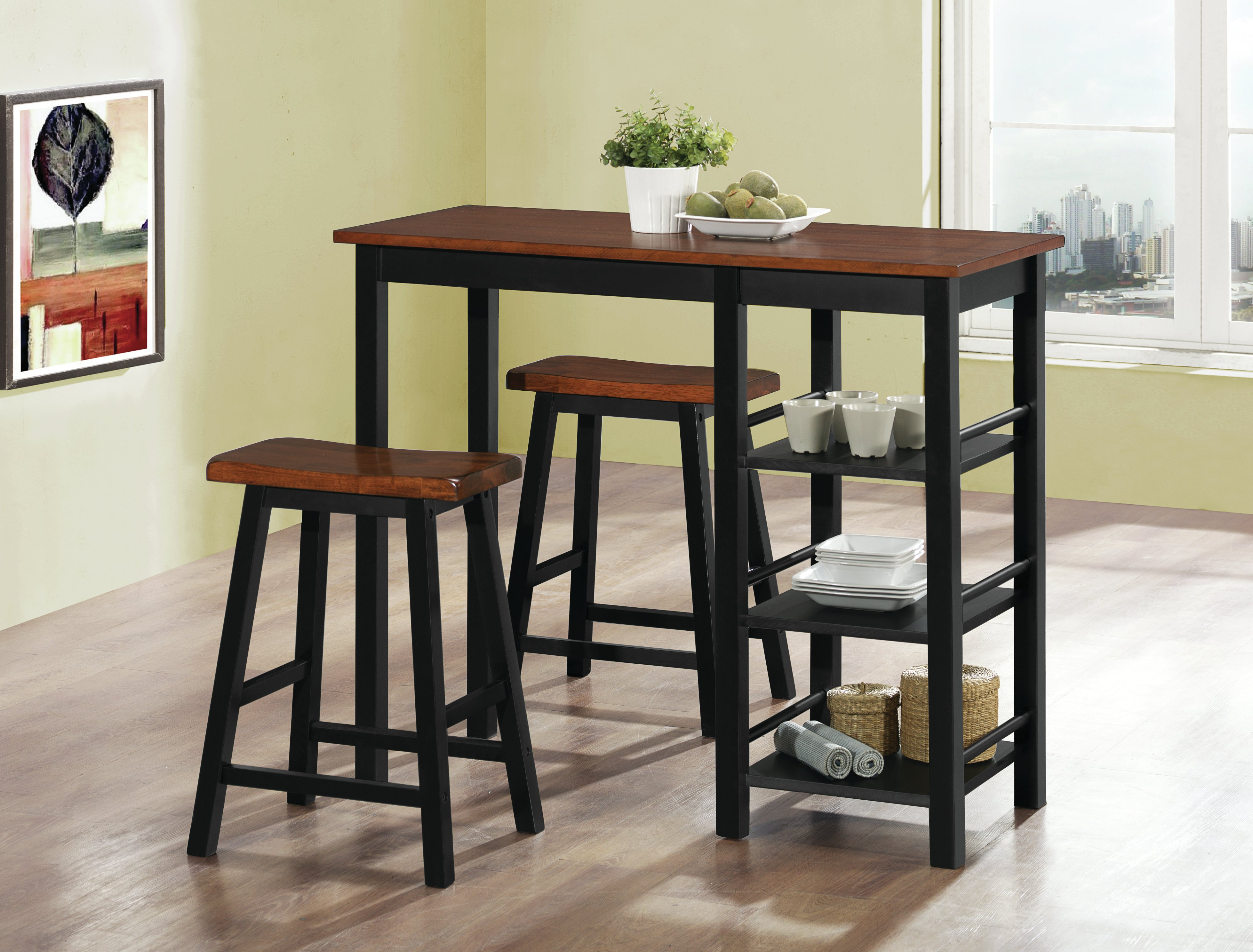 Berrios 3 Piece Counter Height Dining Sets Within Newest Berrios 3 Piece Counter Height Dining Set (View 11 of 20)