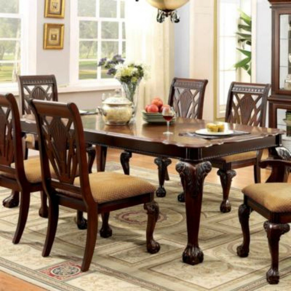 Best And Newest Laconia 7 Pieces Solid Wood Dining Sets (Set Of 7) In Rina 7 Piece Solid Wood Dining Set (Gallery 9 of 20)
