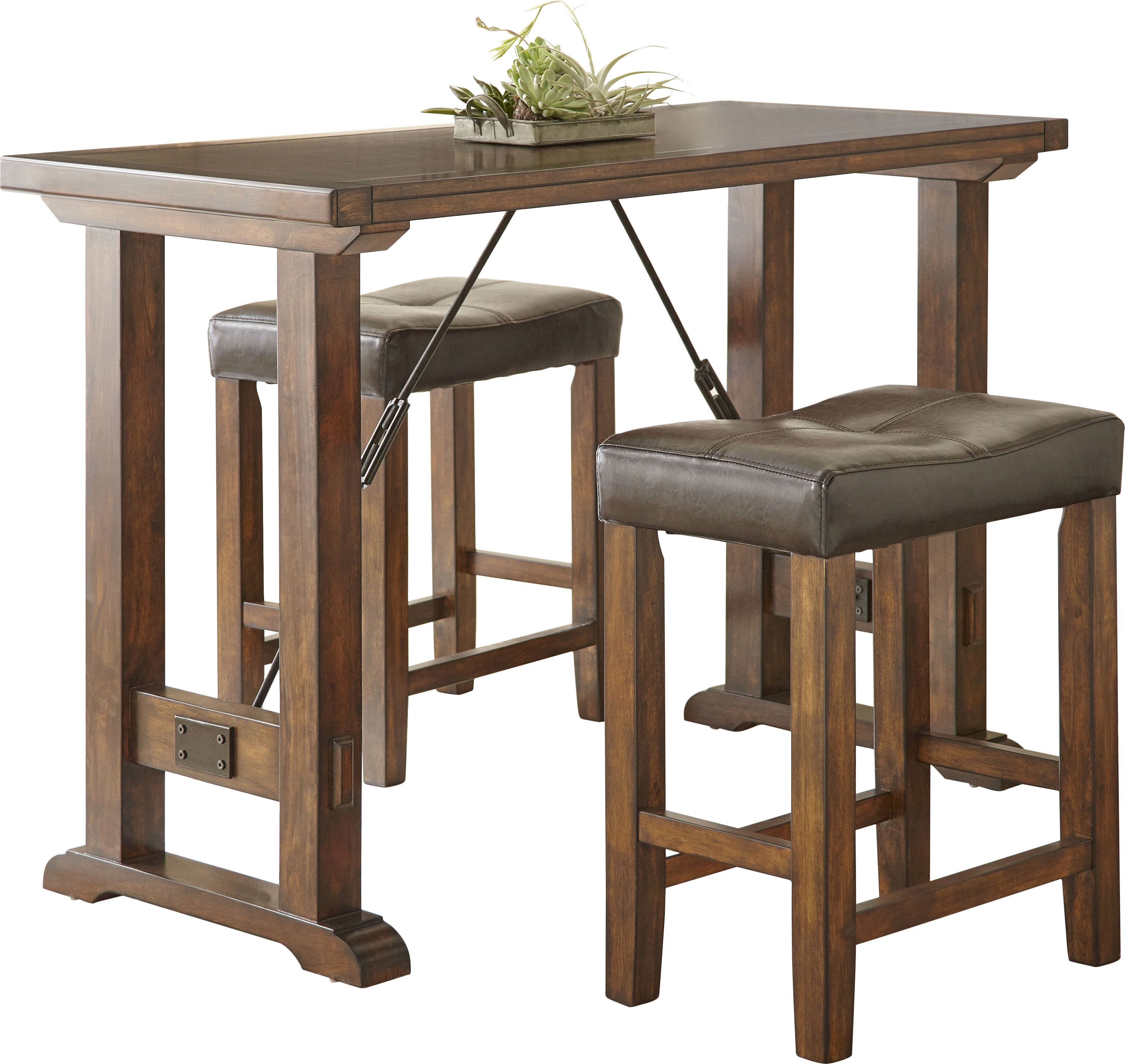 Best And Newest Norrell 3 Piece Counter Height Dining Set Inside Penelope 3 Piece Counter Height Wood Dining Sets (View 3 of 20)