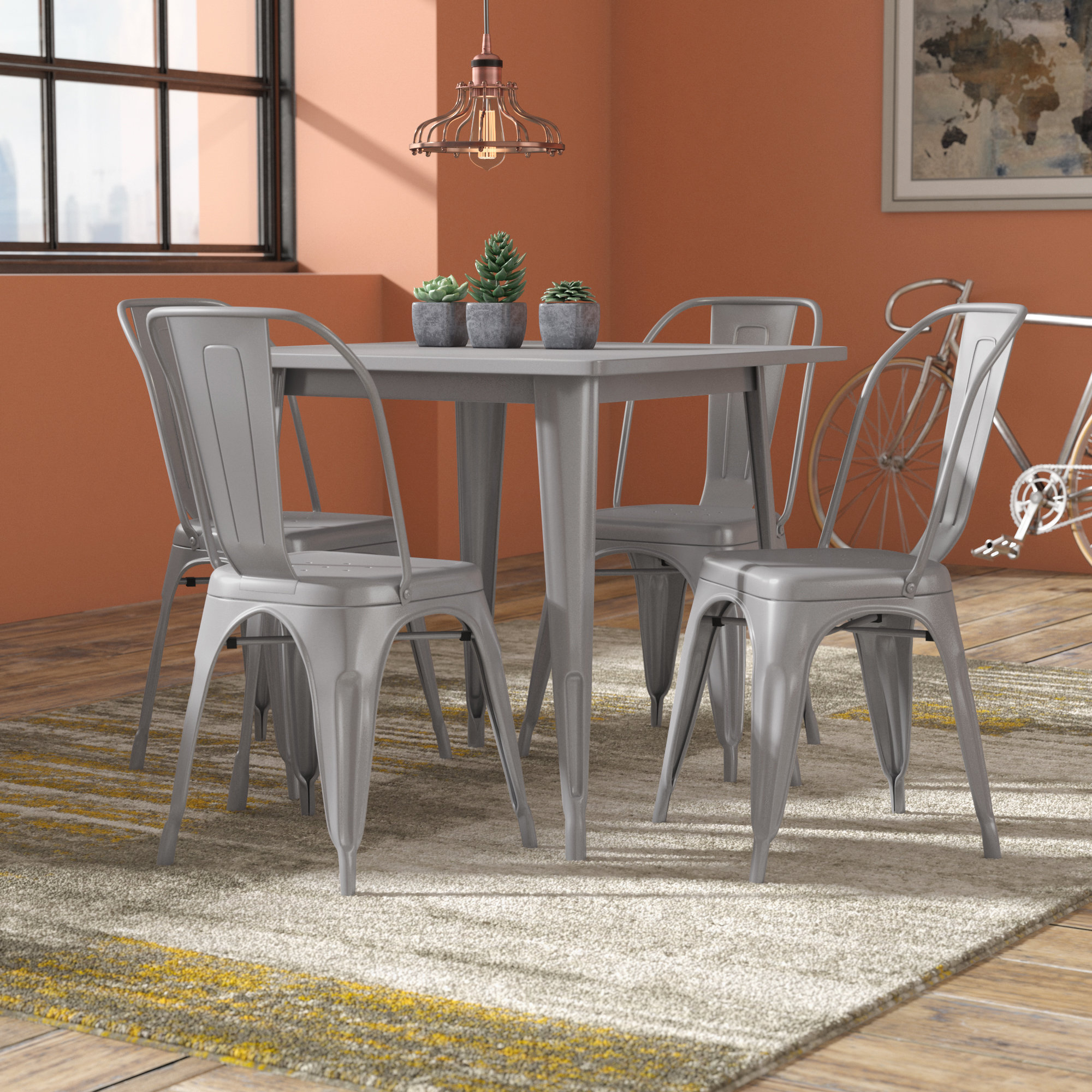 Betsey 5 Piece Dining Set For Trendy Mulvey 5 Piece Dining Sets (View 1 of 20)