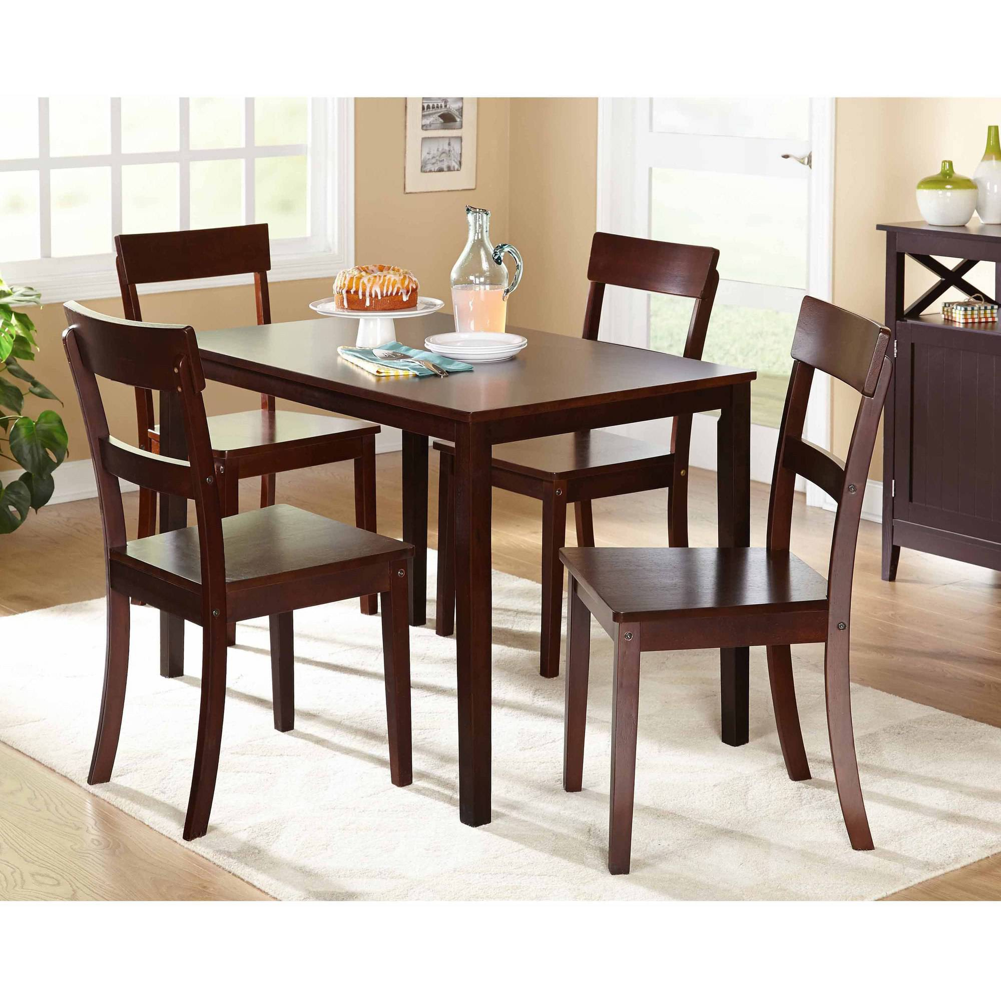 Beverly 5 Piece Dining Set, Multiple Finishes Pertaining To 2017 5 Piece Dining Sets (View 7 of 20)