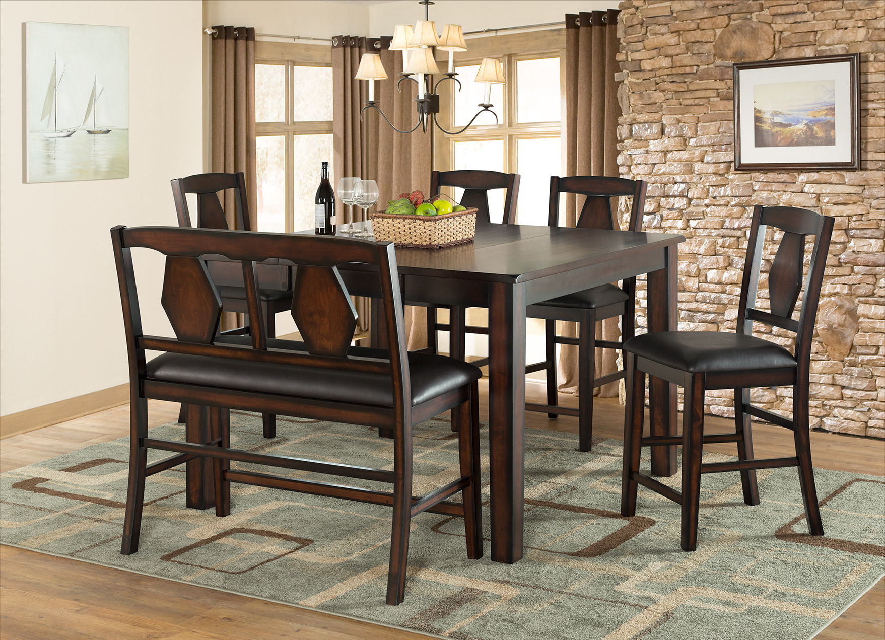Biggs 5 Piece Counter Height Solid Wood Dining Sets (set Of 5) For 2017 Vilohomeinc. Tuscan Hills Extendable Dining Table & Reviews (Gallery 8 of 20)