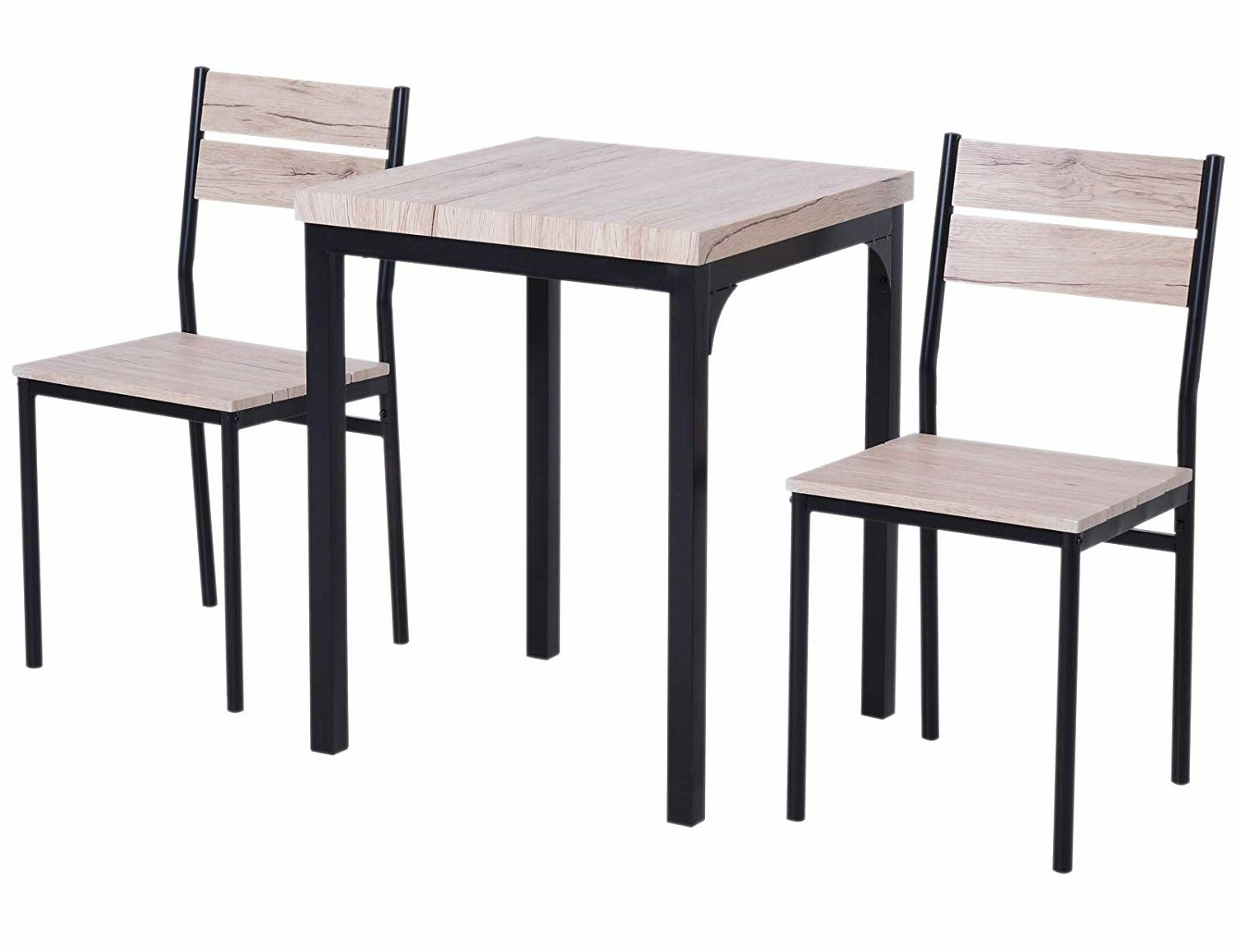 Biggs 5 Piece Counter Height Solid Wood Dining Sets (Set Of 5) Intended For 2018 Staley Rustic Country 3 Piece Dining Set (Gallery 16 of 20)