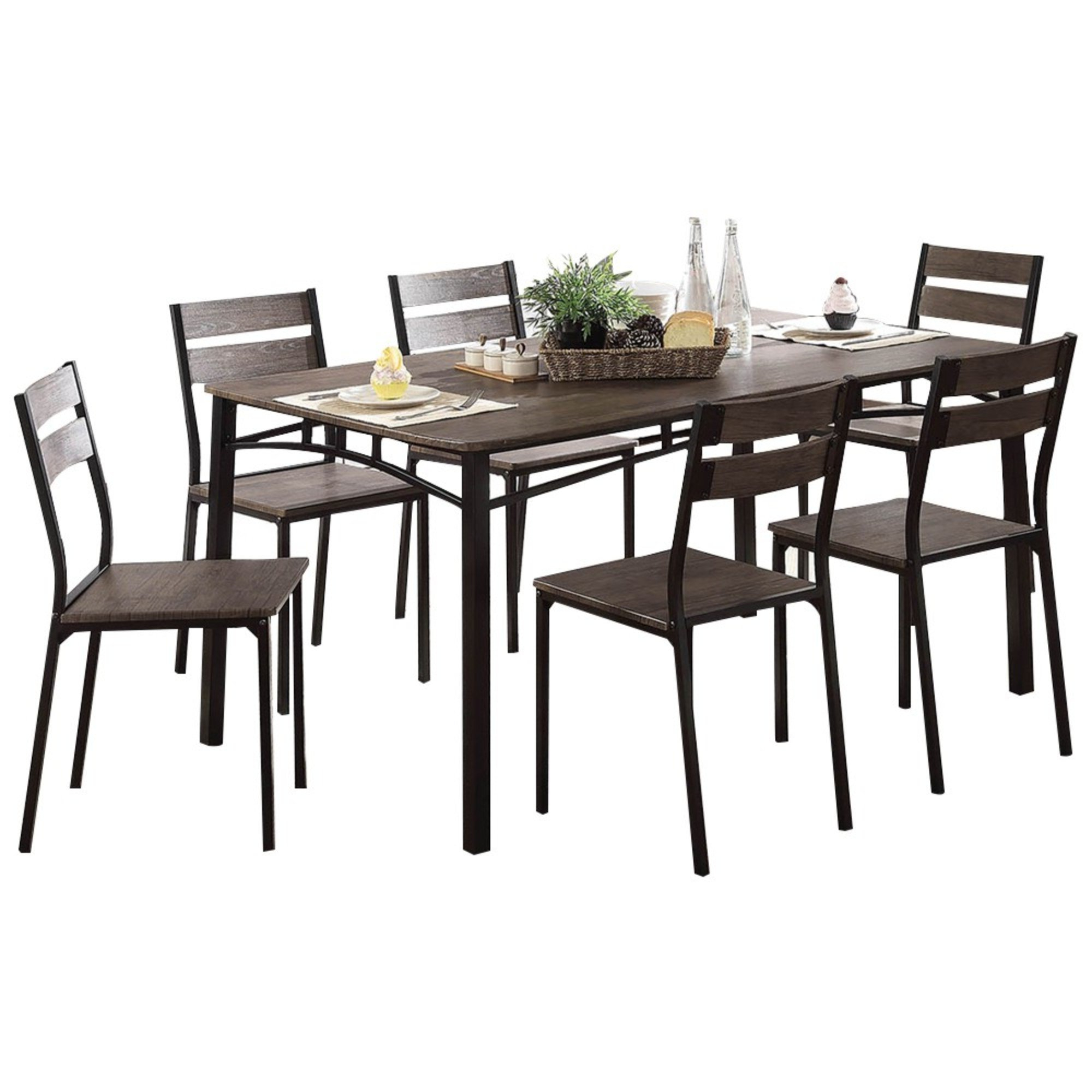 Brockway Wooden 7 Piece Counter Height Dining Table Set Regarding Most Recent Casiano 5 Piece Dining Sets (Gallery 18 of 20)
