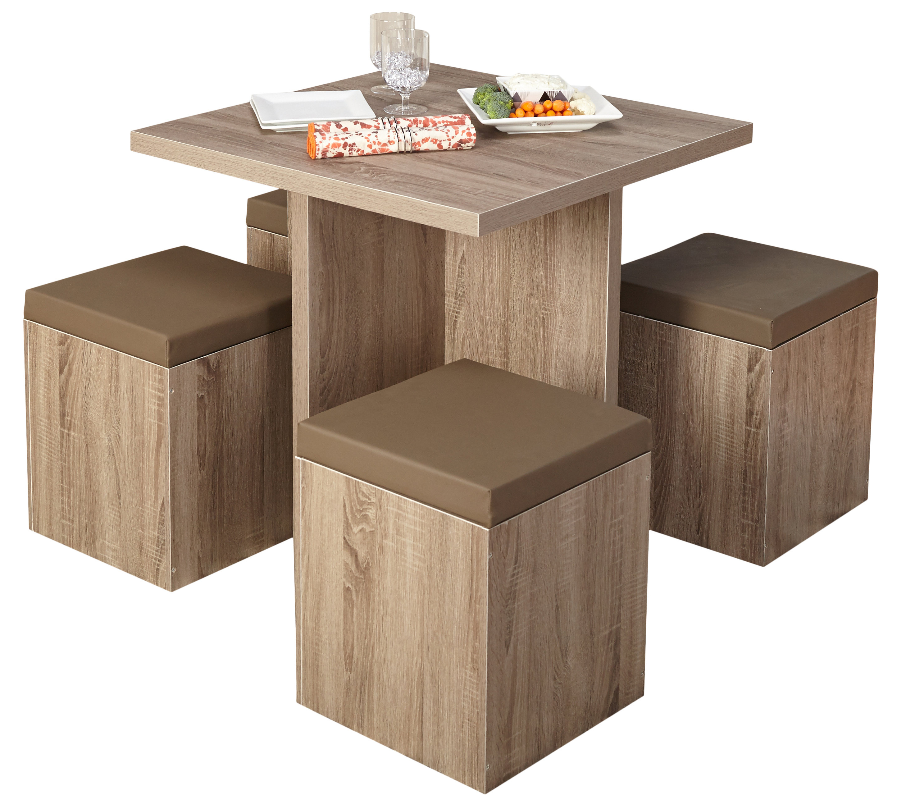 Bryson 5 Piece Dining Sets With Regard To Widely Used Badillo 5 Piece Dining Set (Gallery 12 of 20)