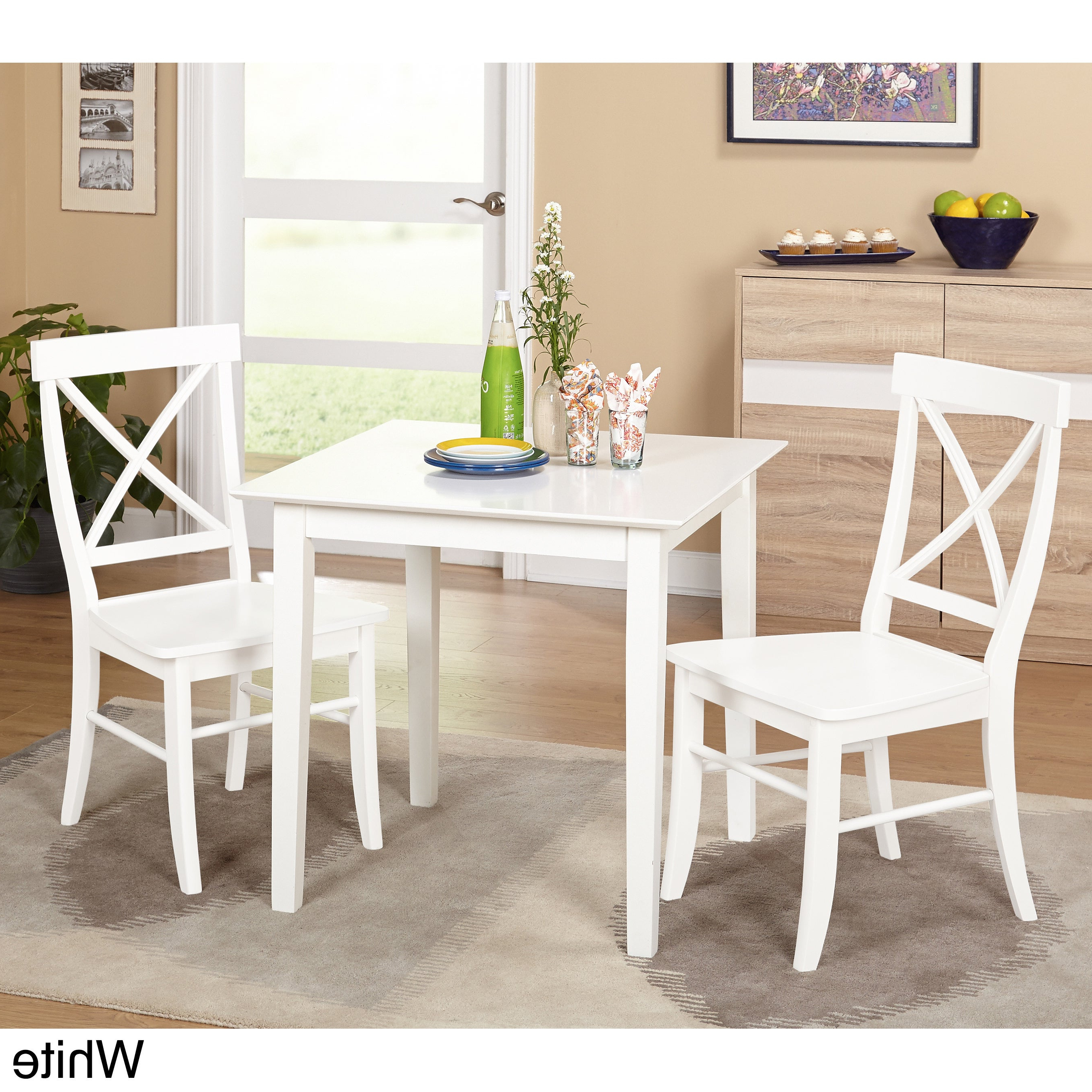 Buy 3 Piece Sets Kitchen & Dining Room Sets Online At Overstock Throughout Well Known Frida 3 Piece Dining Table Sets (View 3 of 20)