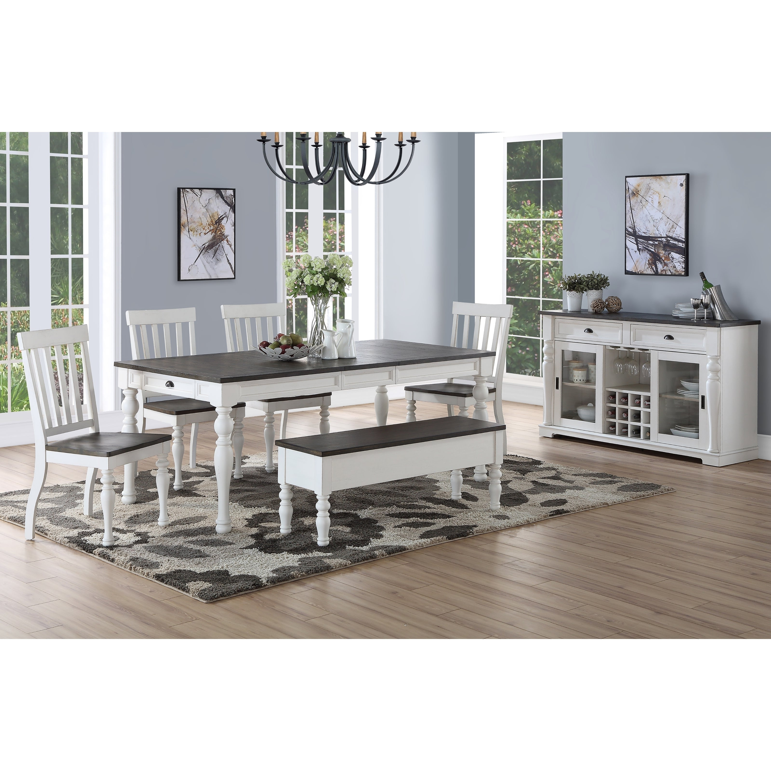 Buy 6 Piece Sets Kitchen & Dining Room Sets Online At Overstock Inside Best And Newest Osterman 6 Piece Extendable Dining Sets (Set Of 6) (Gallery 4 of 20)