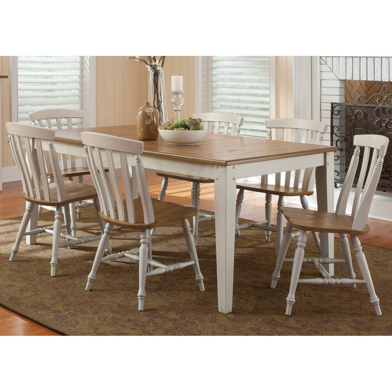 Buy Oak, 7 Piece Sets Kitchen & Dining Room Sets Online At Overstock With Popular Goodman 5 Piece Solid Wood Dining Sets (Set Of 5) (View 2 of 20)