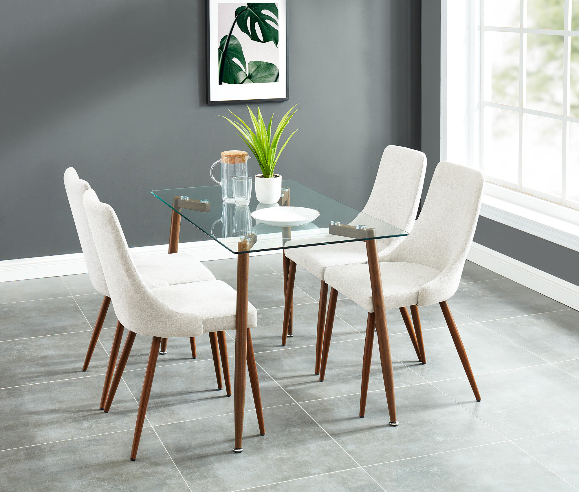 Carmela Contemporary 5 Piece Dining Set Inside Most Up To Date Ganya 5 Piece Dining Sets (View 2 of 20)
