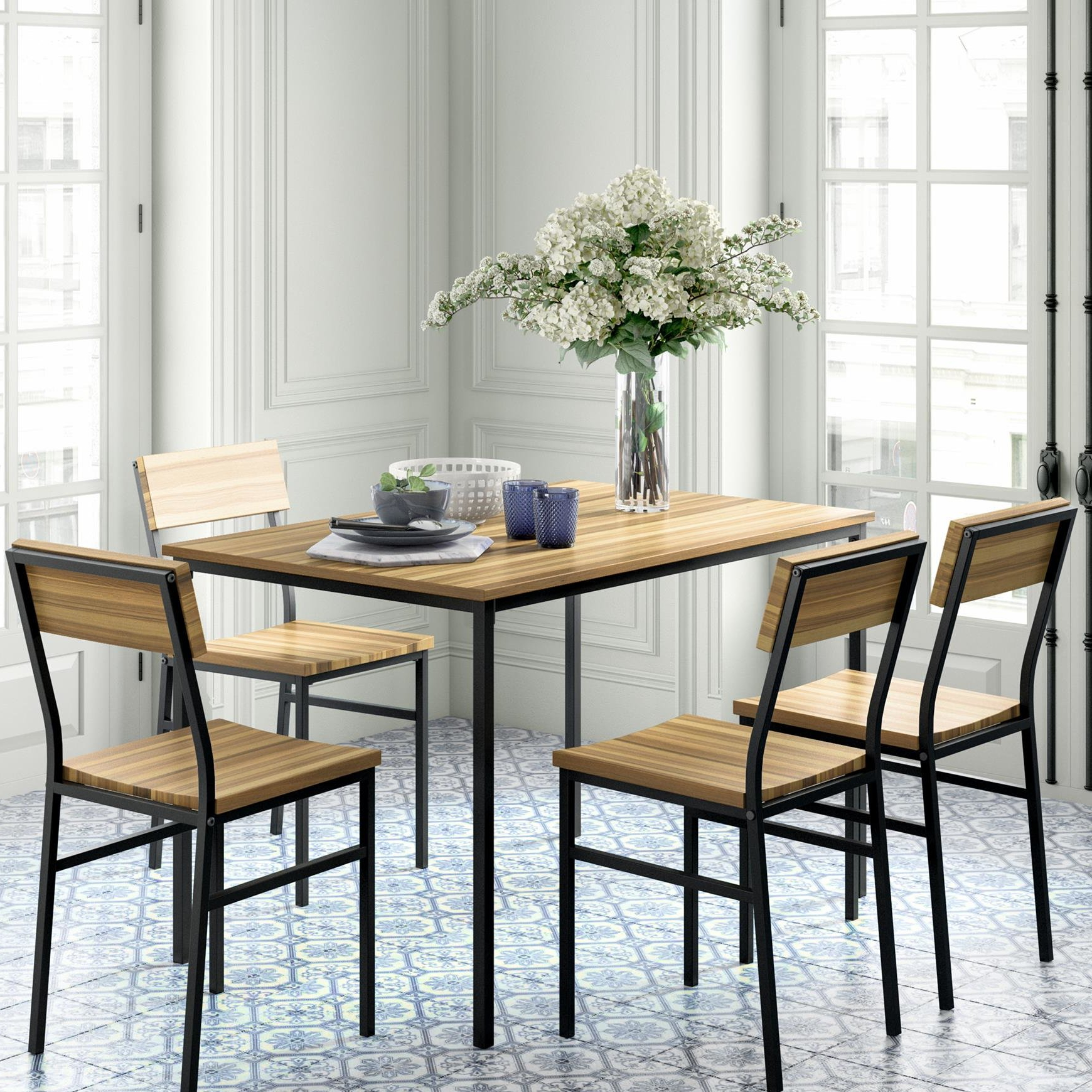 Casiano 5 Piece Dining Sets With Newest Novogratz Linden 5 Piece Dining Set (Gallery 8 of 20)