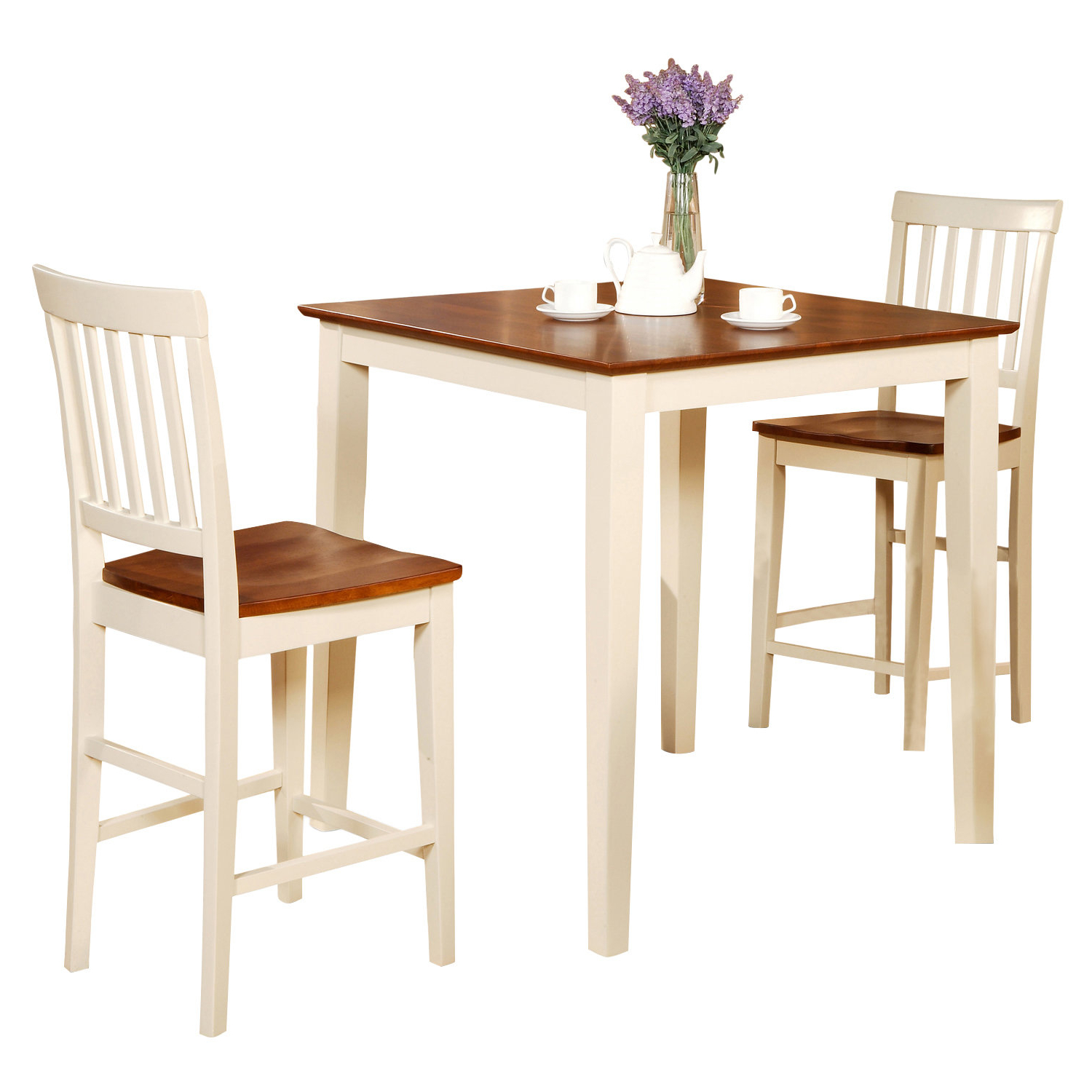 Castellanos Modern 5 Piece Counter Height Dining Sets With Regard To Well Known Quinlan 3 Piece Counter Height Wood Bistro Set (View 5 of 20)
